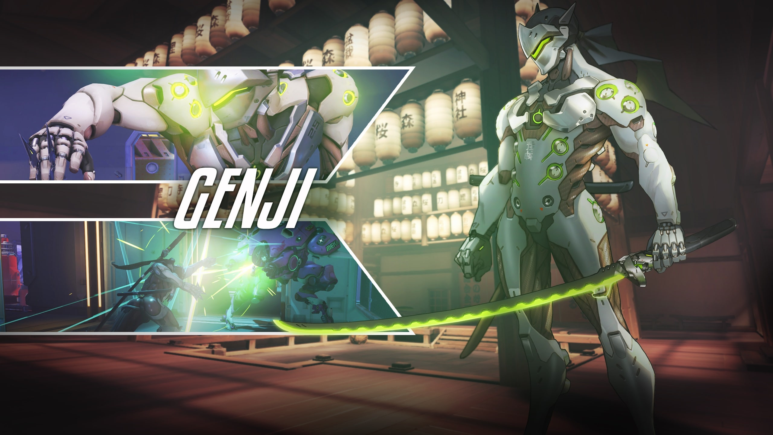 Overwatch : Genji Widescreen for desktop