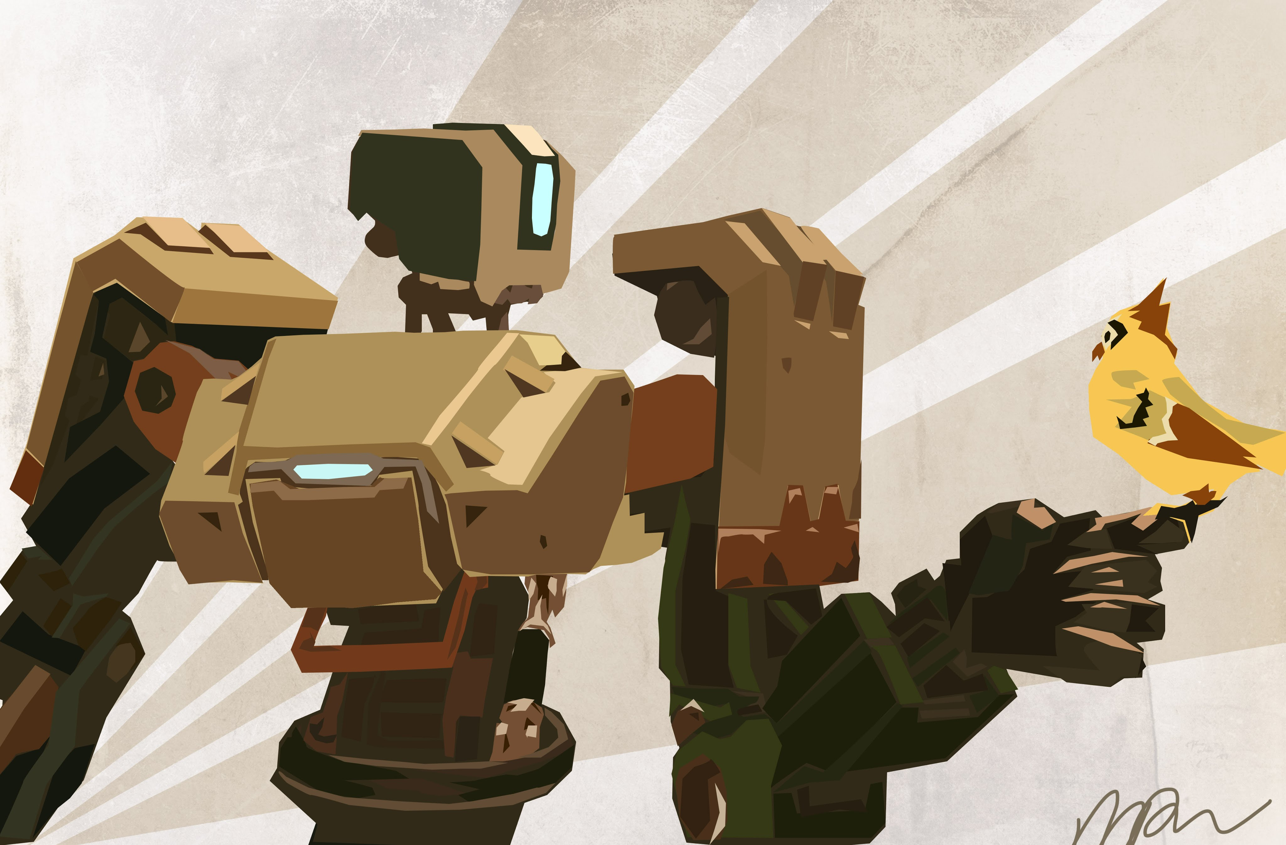 Overwatch : Bastion Wallpaper