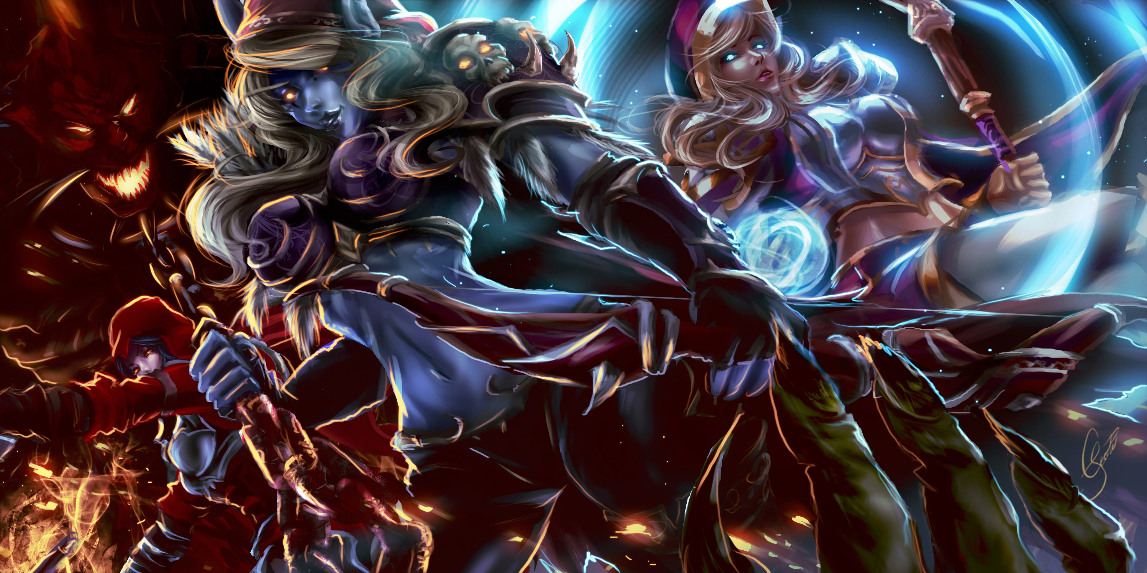 WOW: Jaina Proudmoore full hd wallpapers