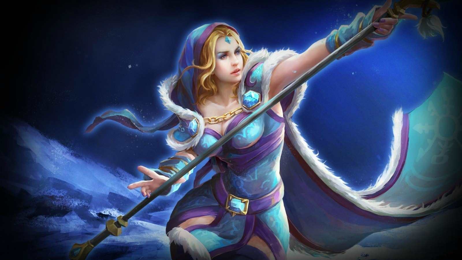 Dota2 : Crystal Maiden full hd wallpapers