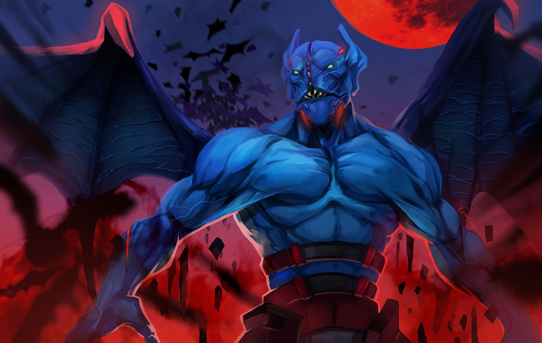 Dota2 : Night Stalker widescreen for desktop