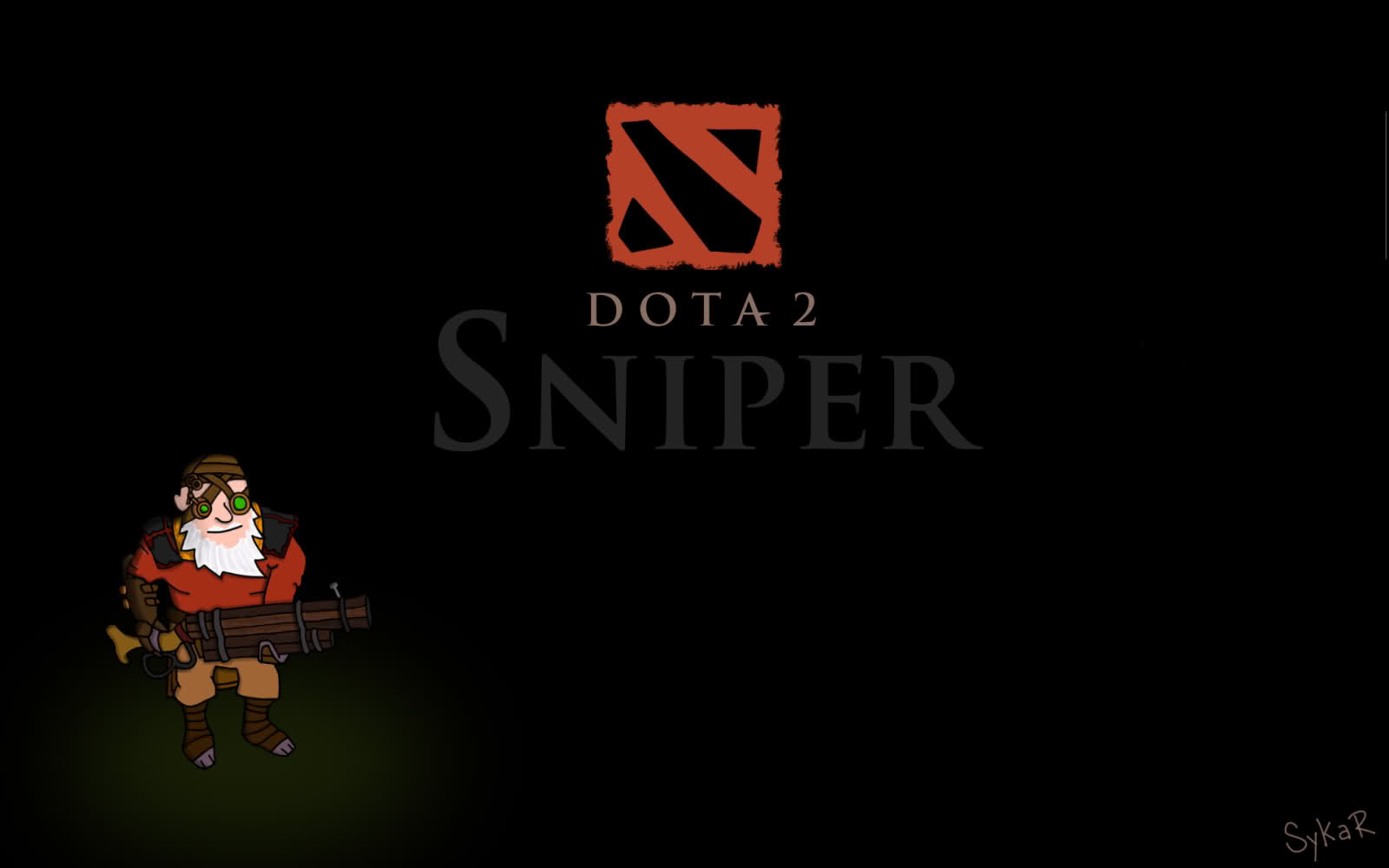 Dota2 : Sniper widescreen for desktop