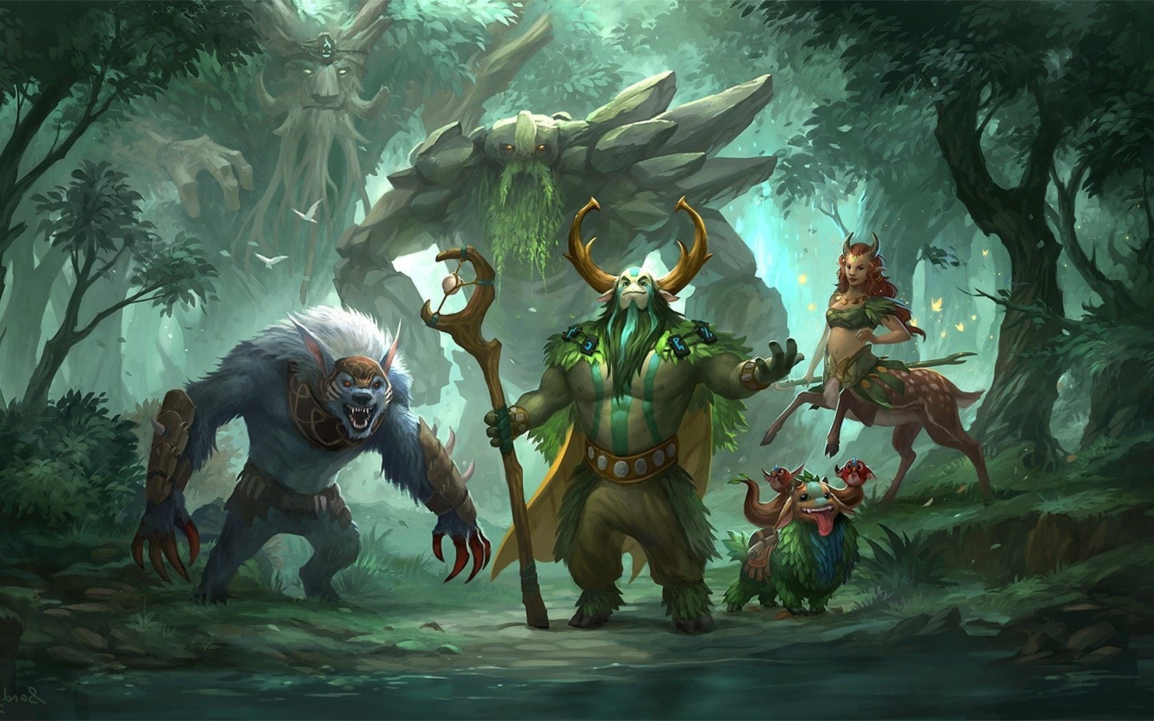Dota2 : Treant Protector widescreen for desktop