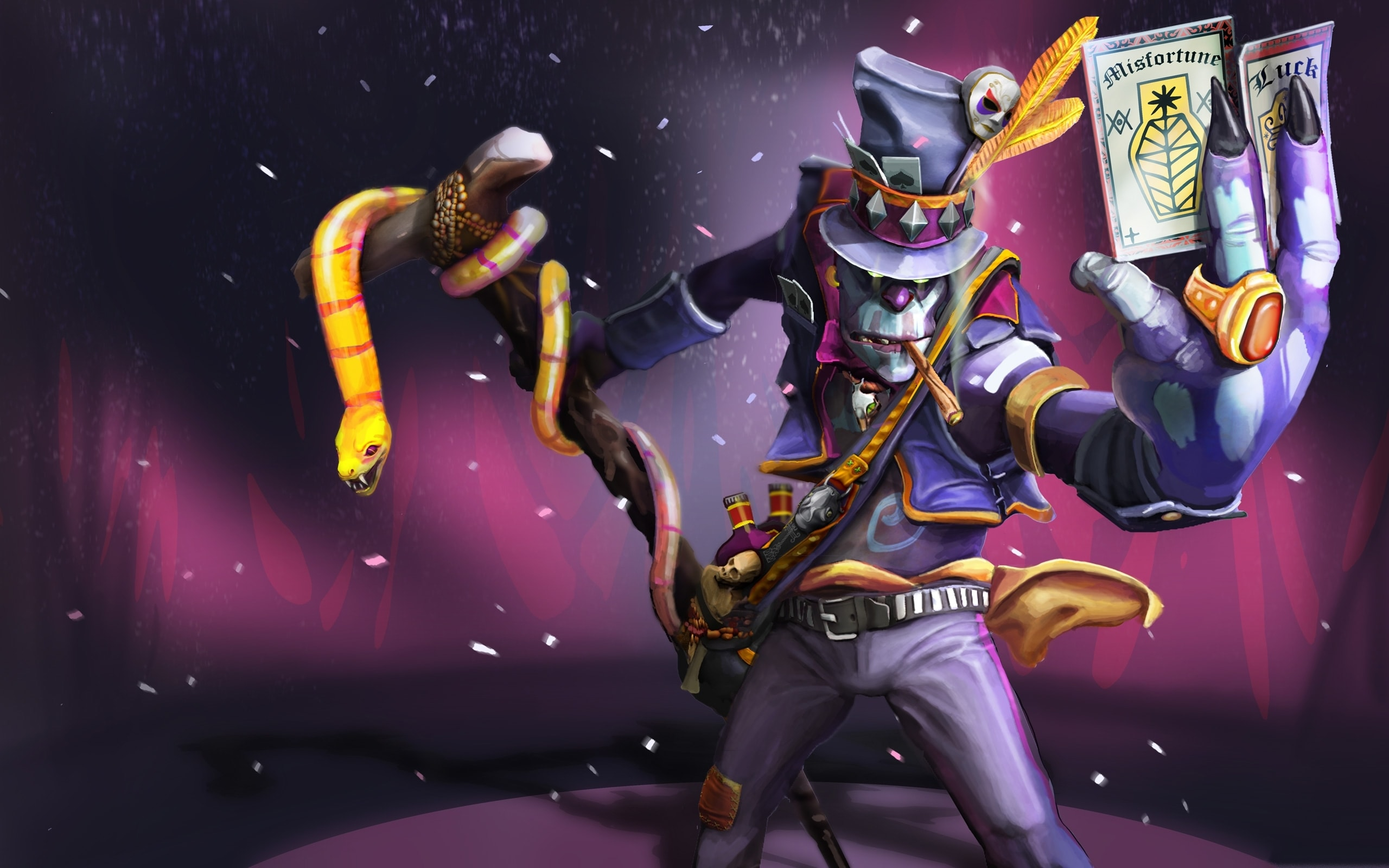 Dota2 : Witch Doctor widescreen for desktop