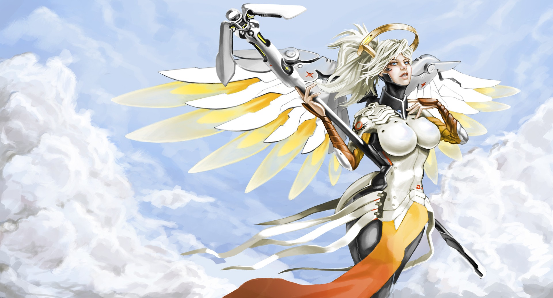Overwatch : Mercy Full hd wallpapers