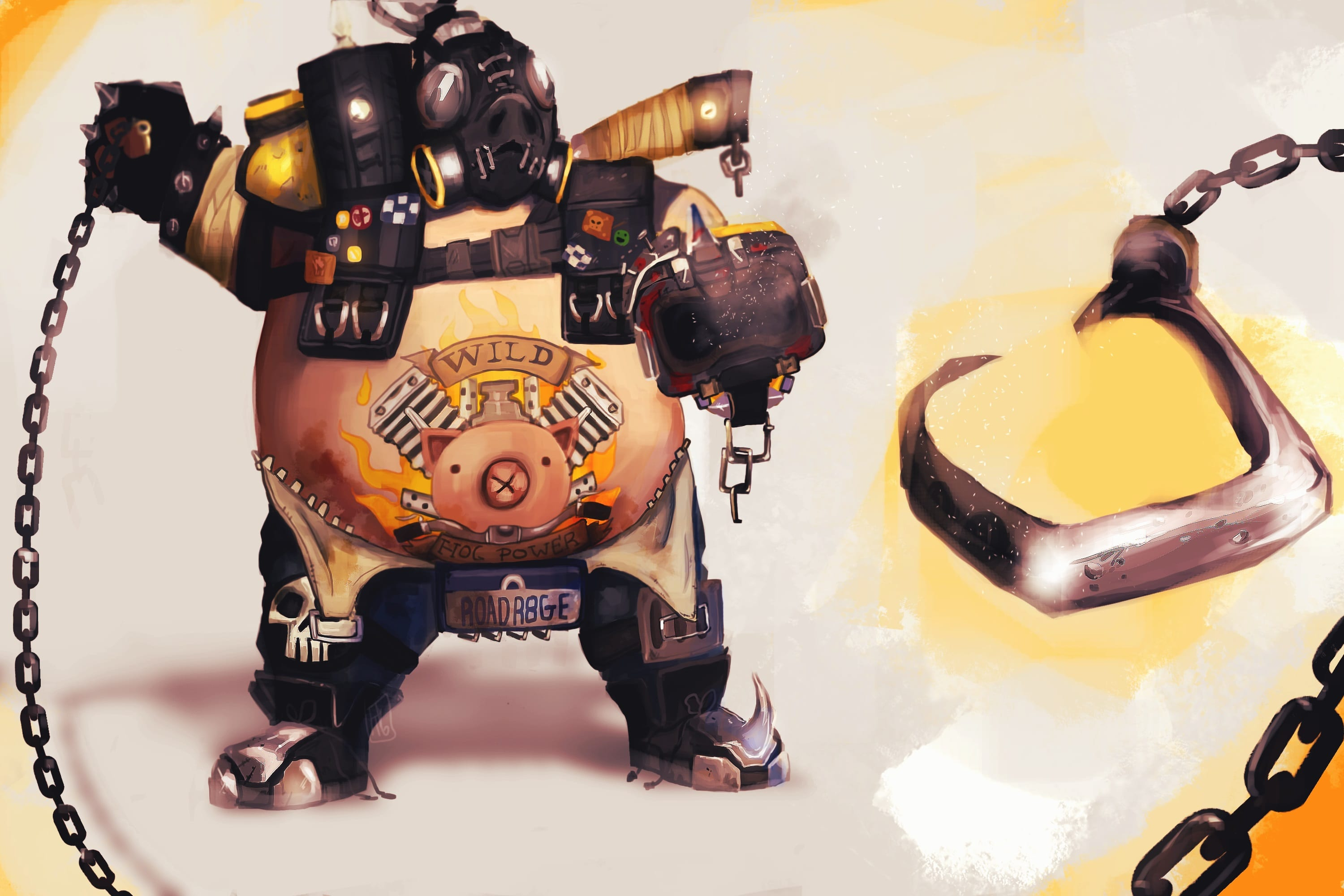 Overwatch : Roadhog Full hd wallpapers