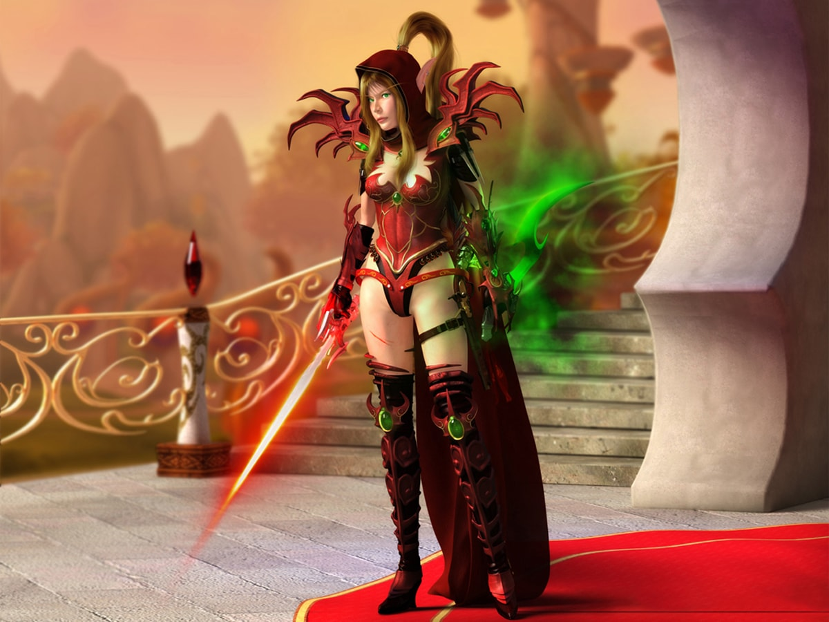 WOW: Valeera Sanguinar widescreen for desktop