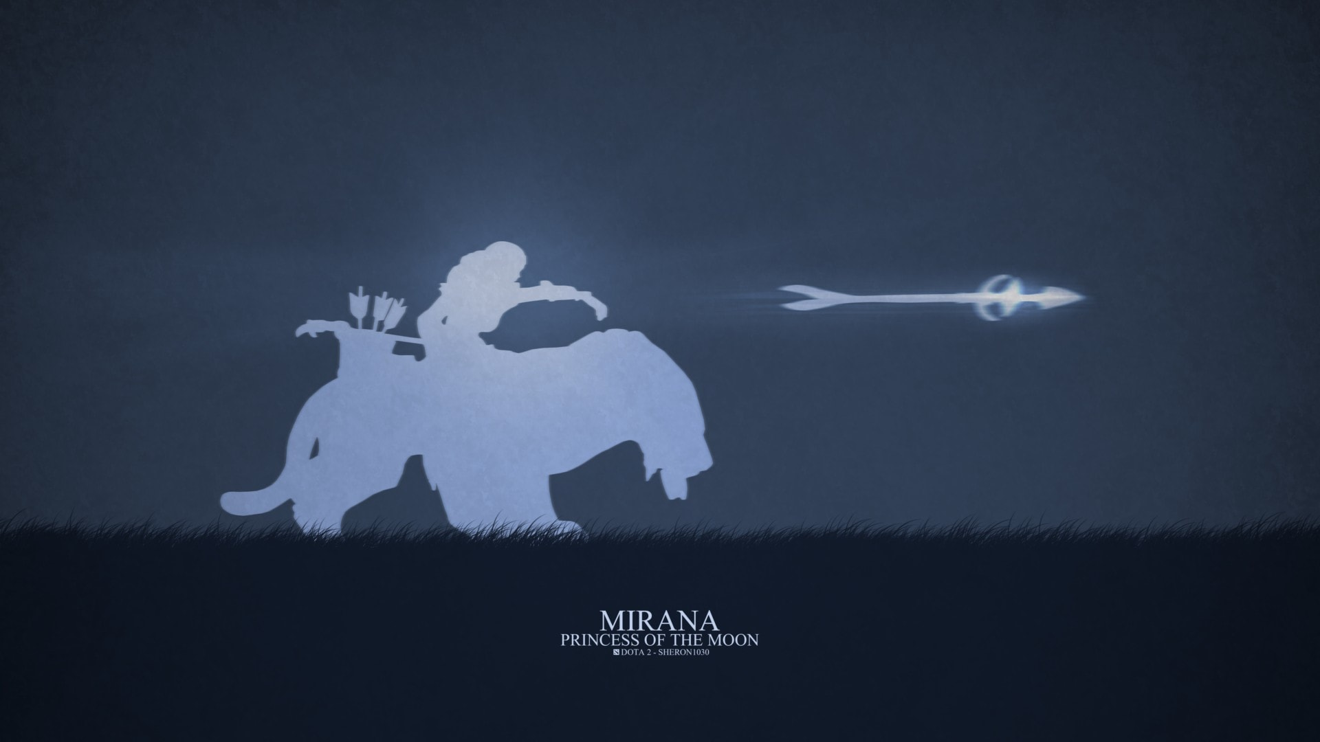 Dota2 : Mirana desktop wallpaper