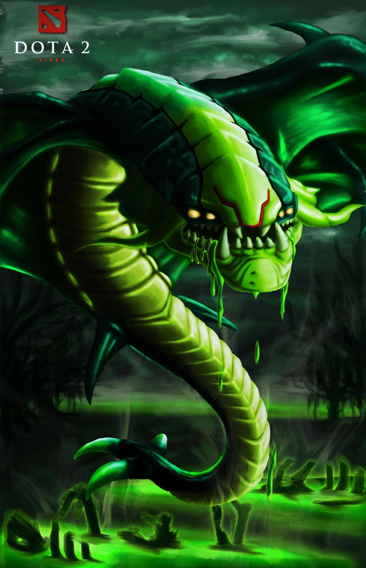 Dota2 : Viper iPhone wallpapers