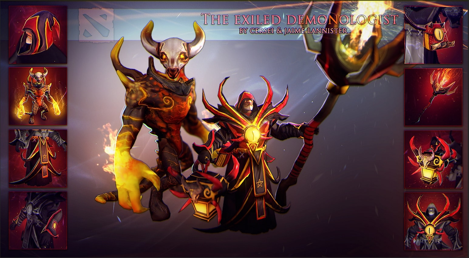 Dota2 : Warlock desktop wallpaper