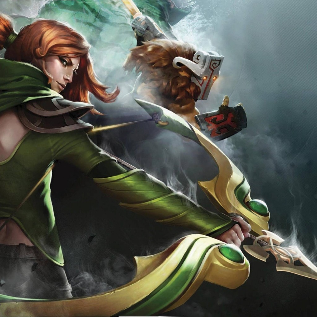 Dota2 : Windranger widescreen for desktop