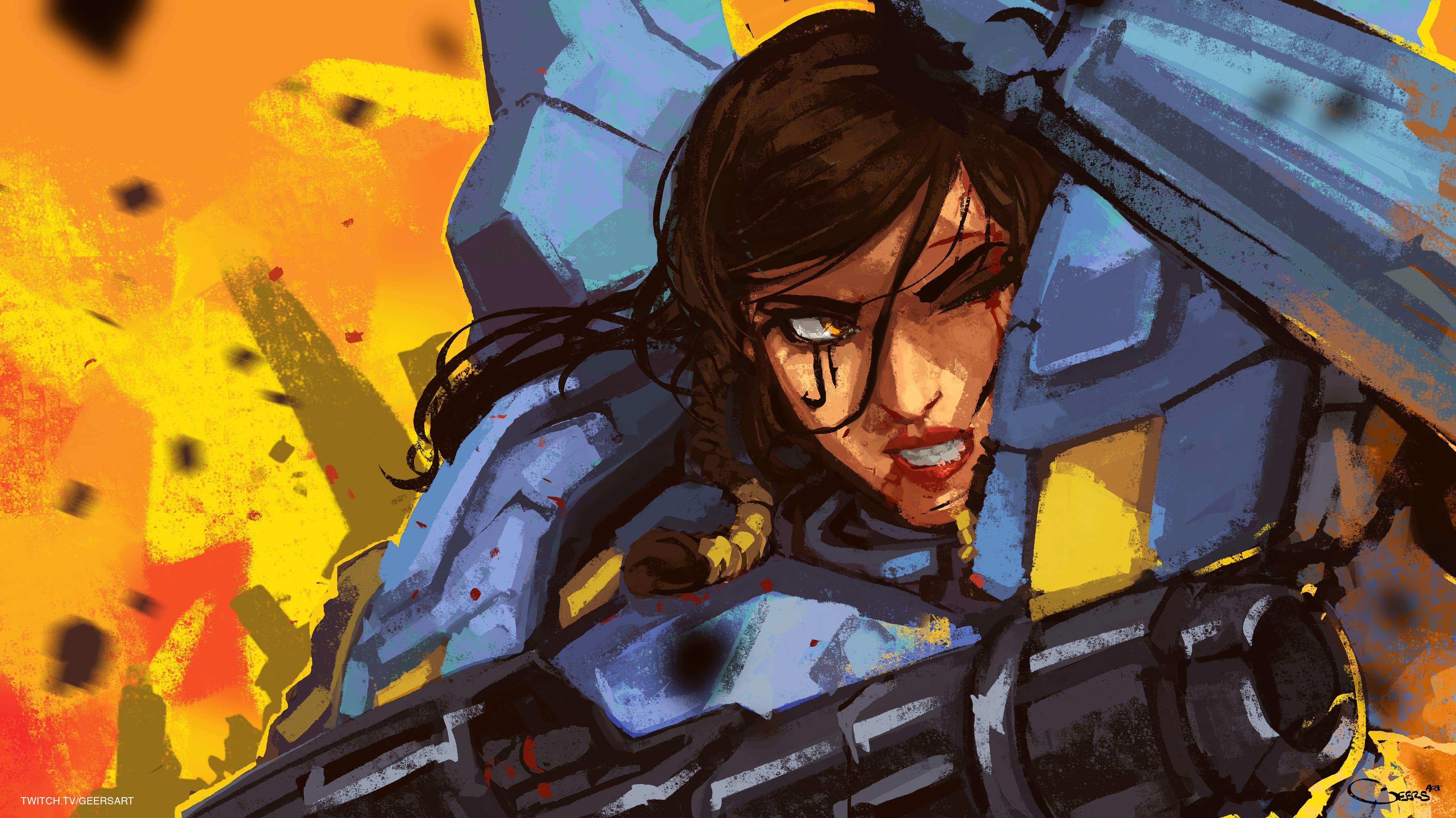 Overwatch : Pharah Widescreen for desktop