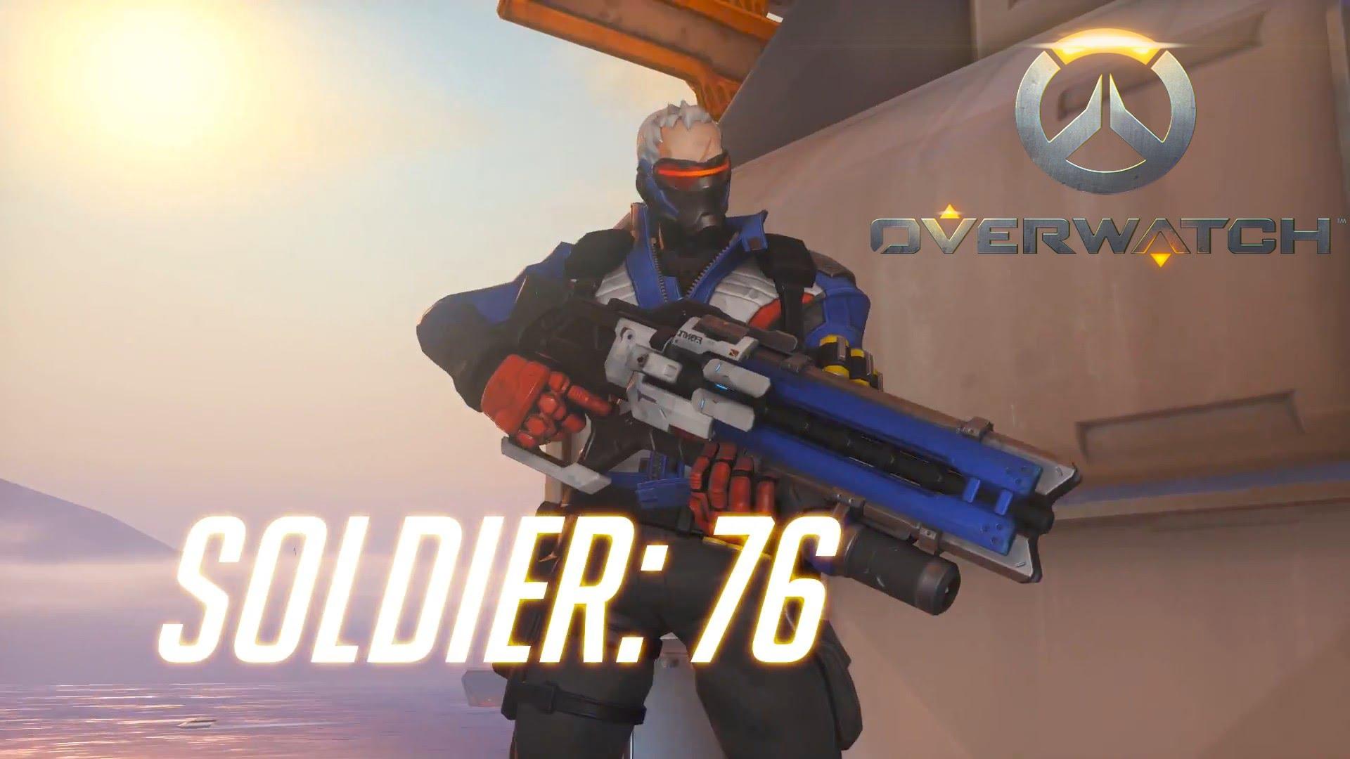 Overwatch : Soldier: 76 Widescreen for desktop