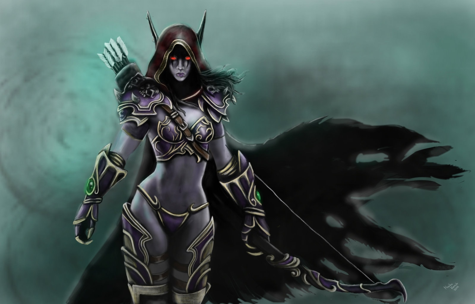 WOW: Sylvanas Windrunner widescreen for desktop
