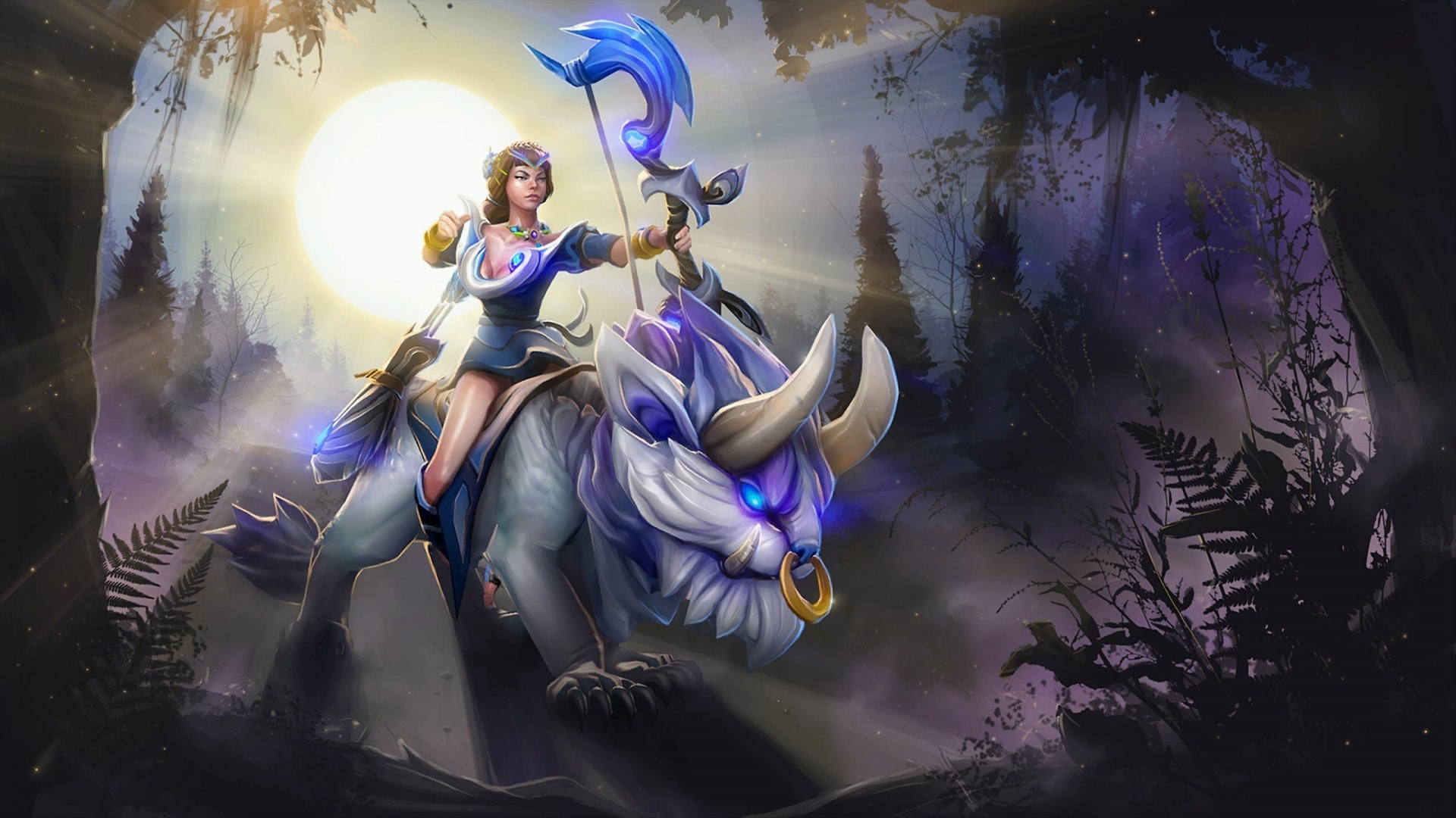 Dota2 Mirana HD Desktop Wallpapers