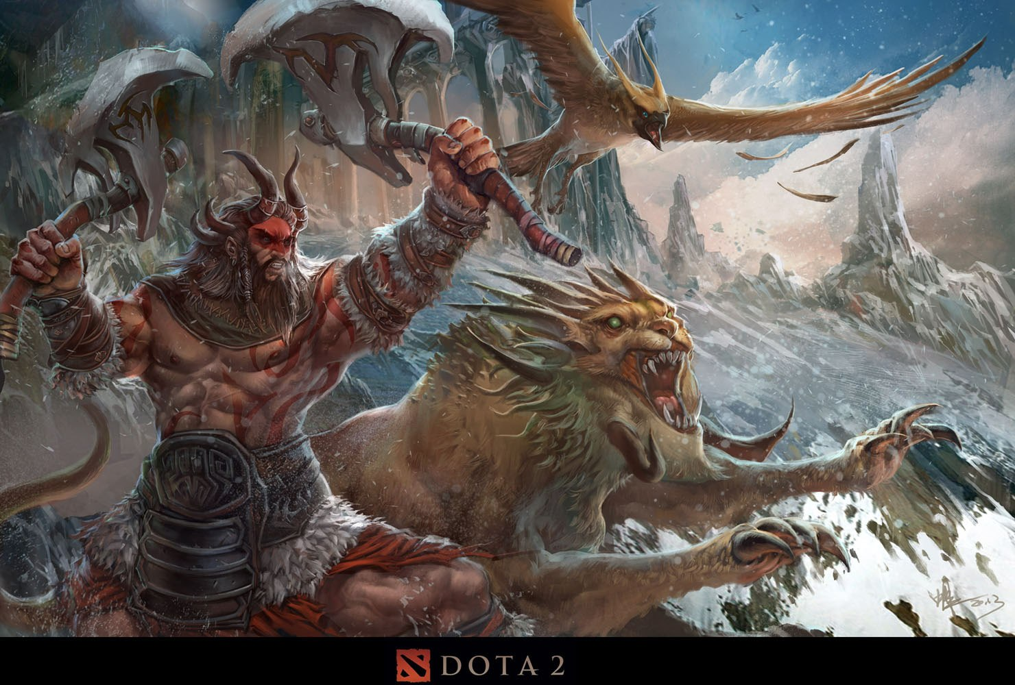 Dota2 : Beastmaster widescreen for desktop