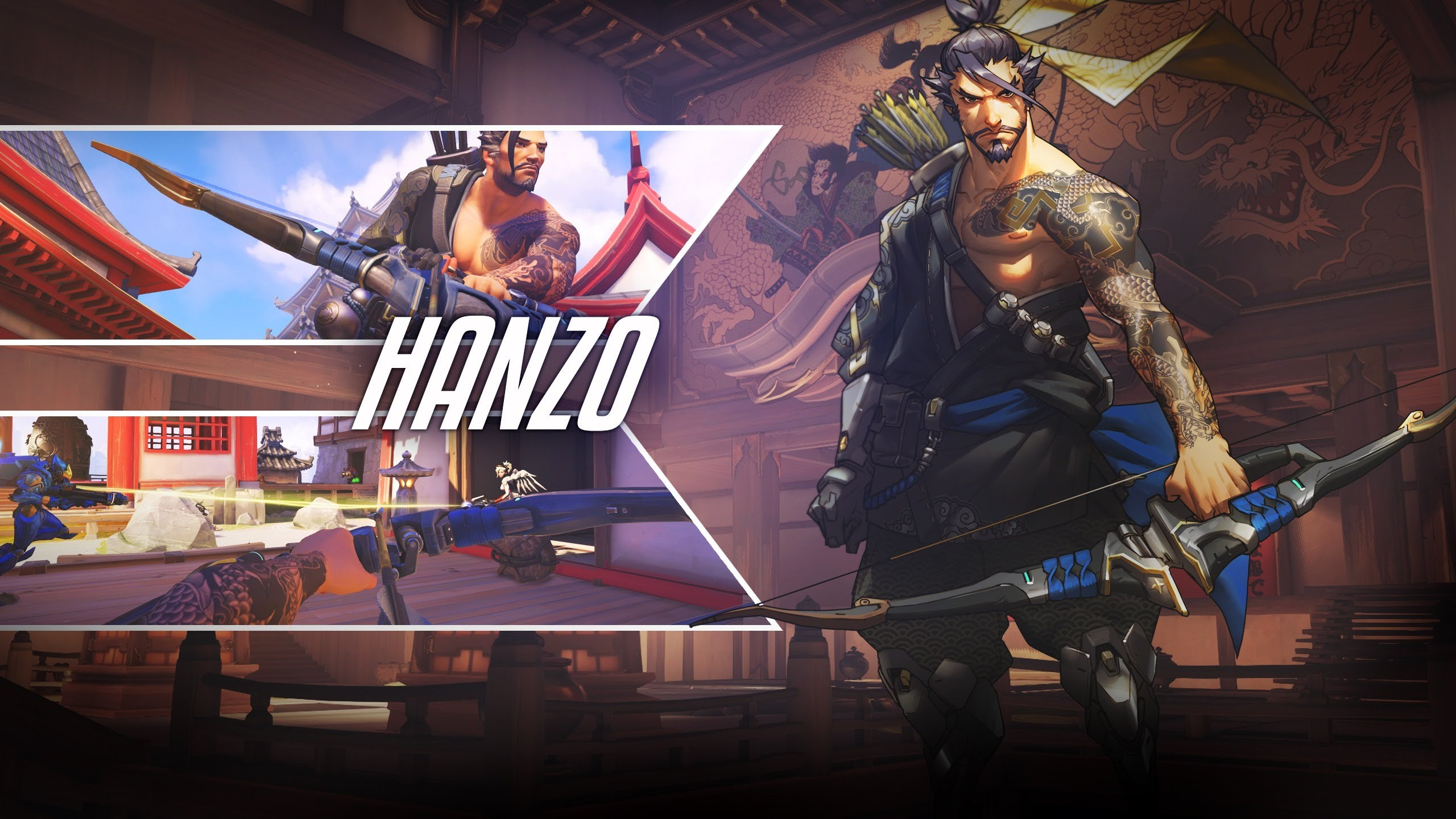 Overwatch : Hanzo Widescreen