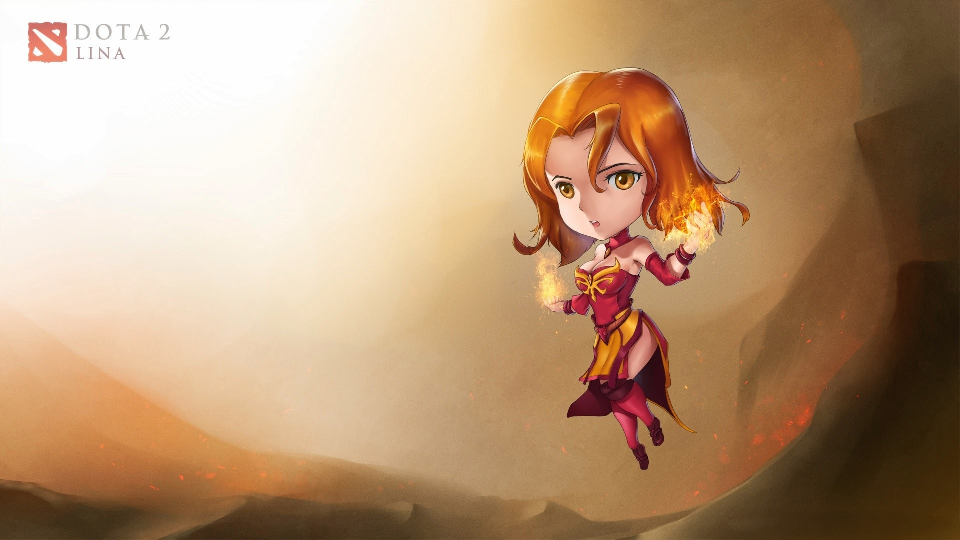 Dota2 : Lina desktop wallpaper