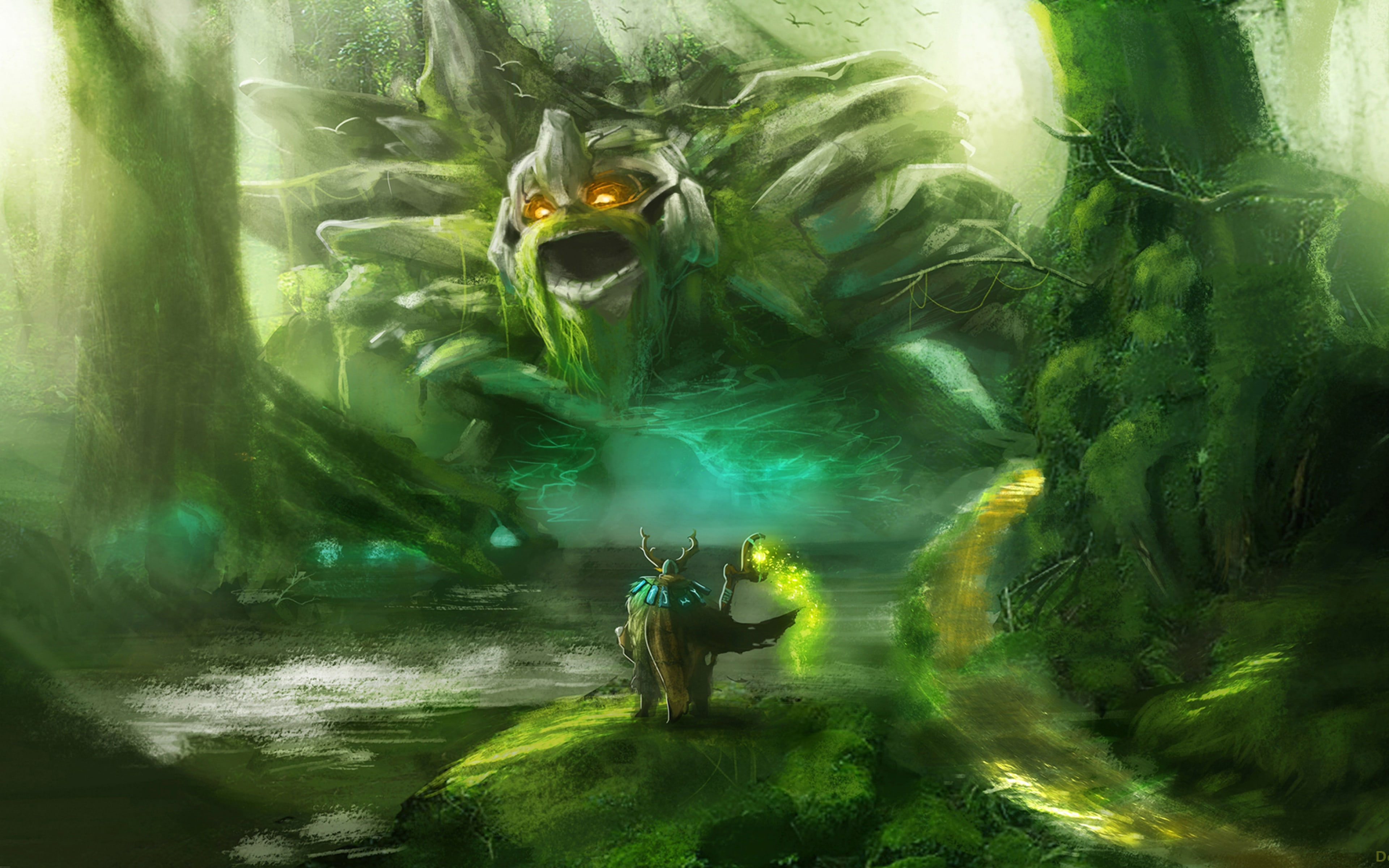 dota 2 nature s prophet hd desktop wallpapers 7wallpapers net
