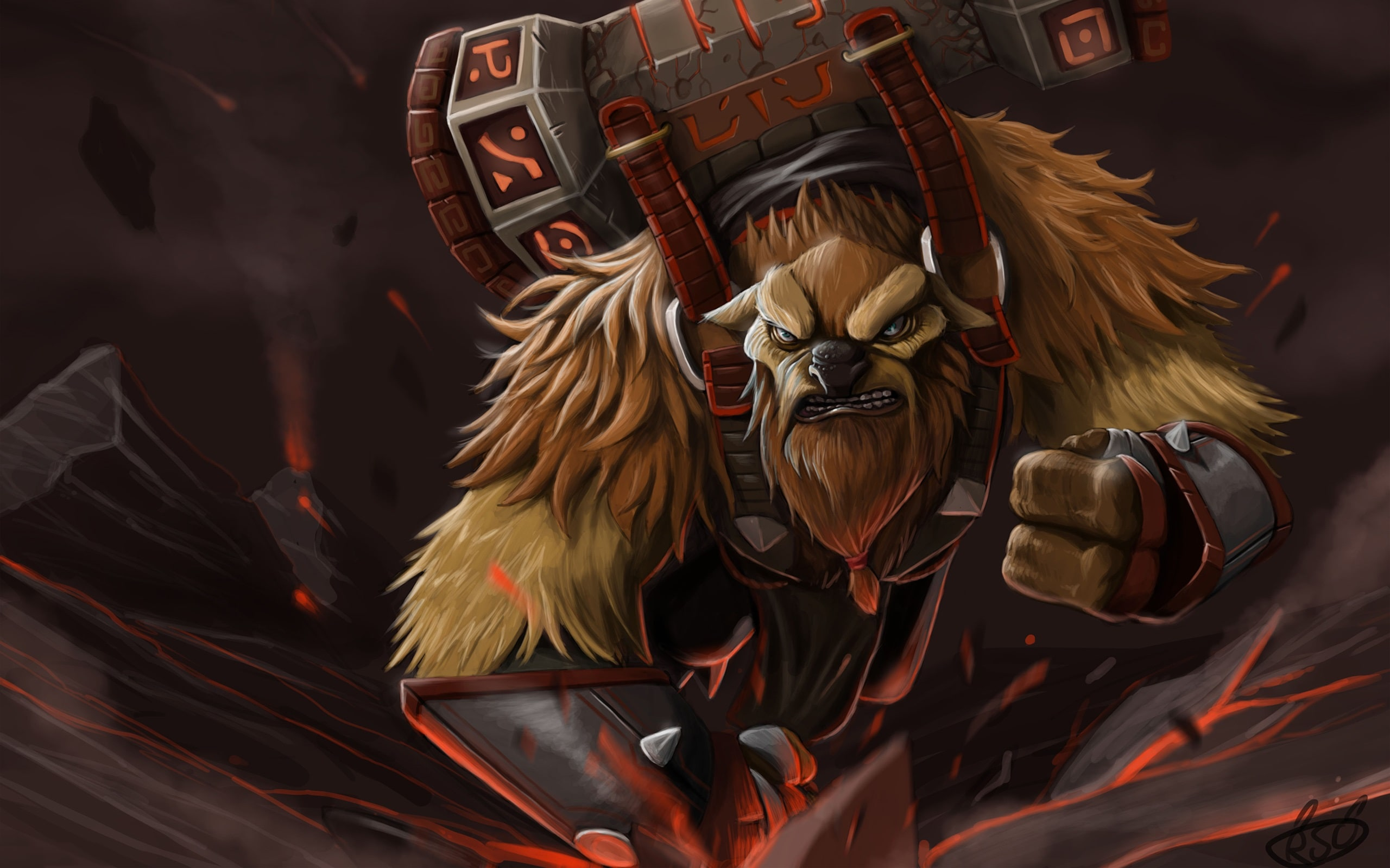 Dota2 : Earthshaker desktop wallpaper