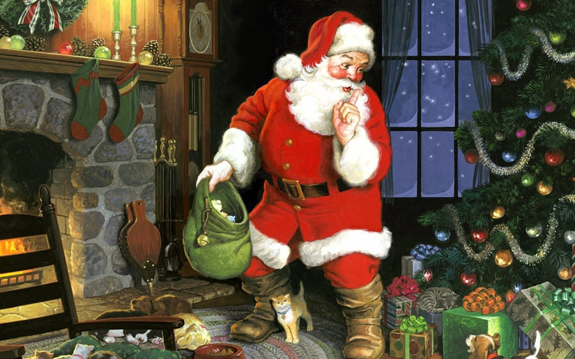 Santa Claus Hd Wallpapers 7wallpapers Net