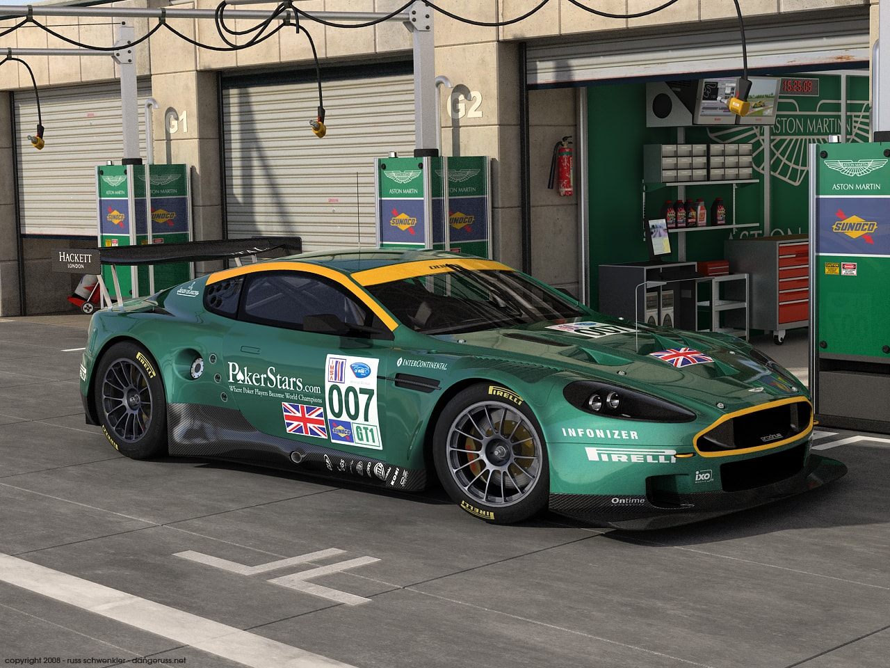 Aston Martin DBR9 widescreen wallpapers