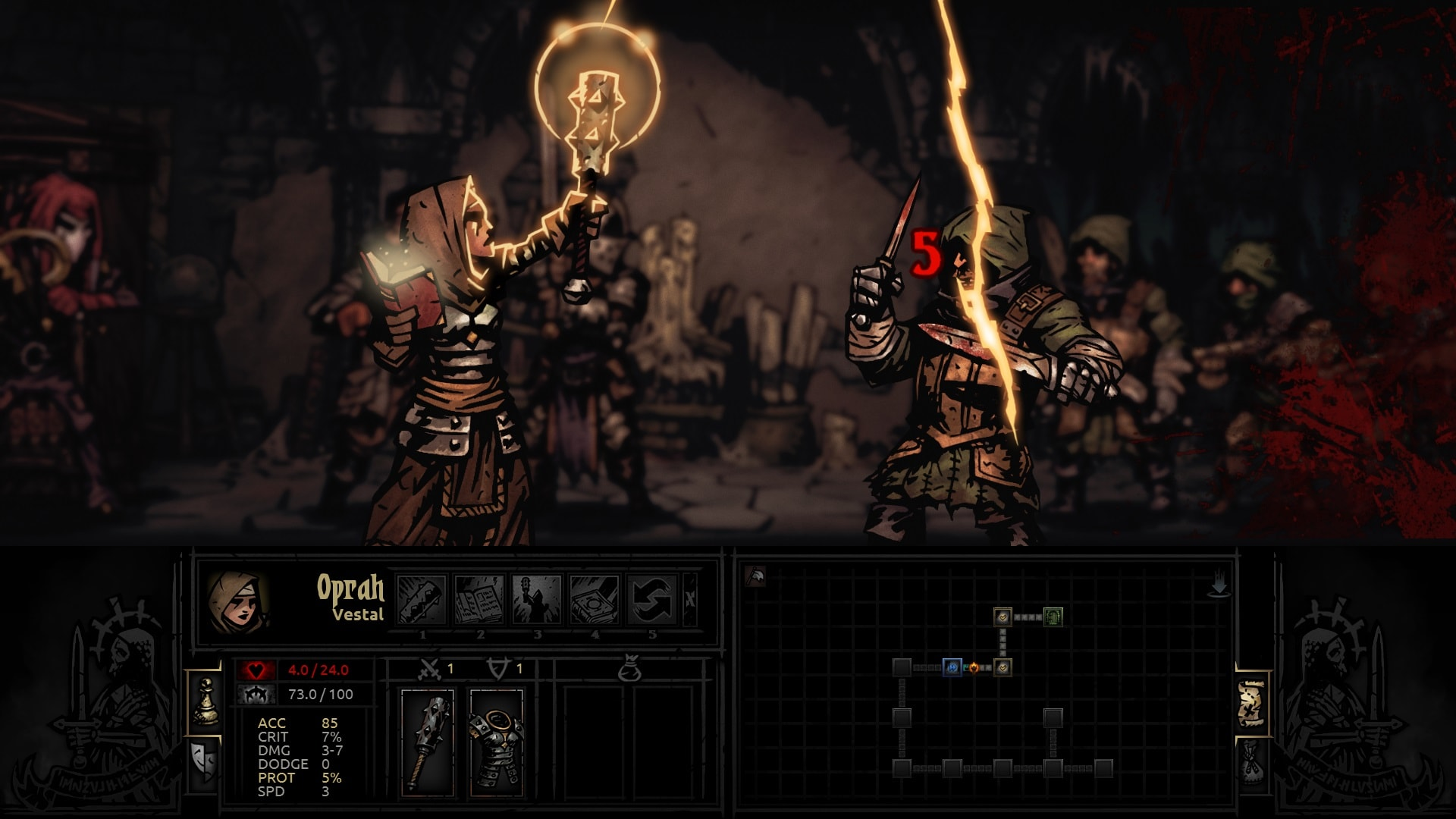 Darkest Dungeon: Vestal widescreen wallpapers