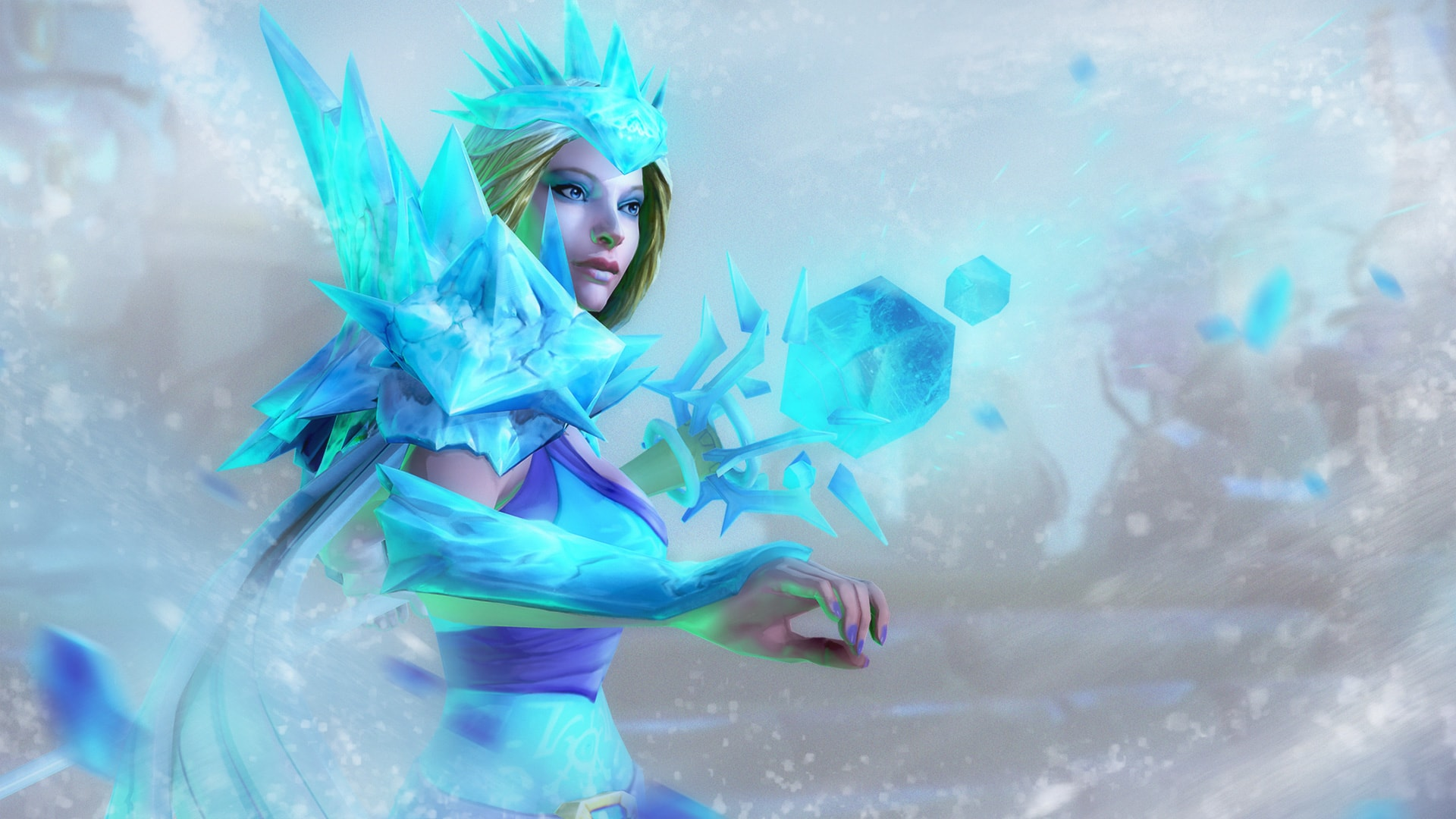Dota2 : Crystal Maiden widescreen wallpapers
