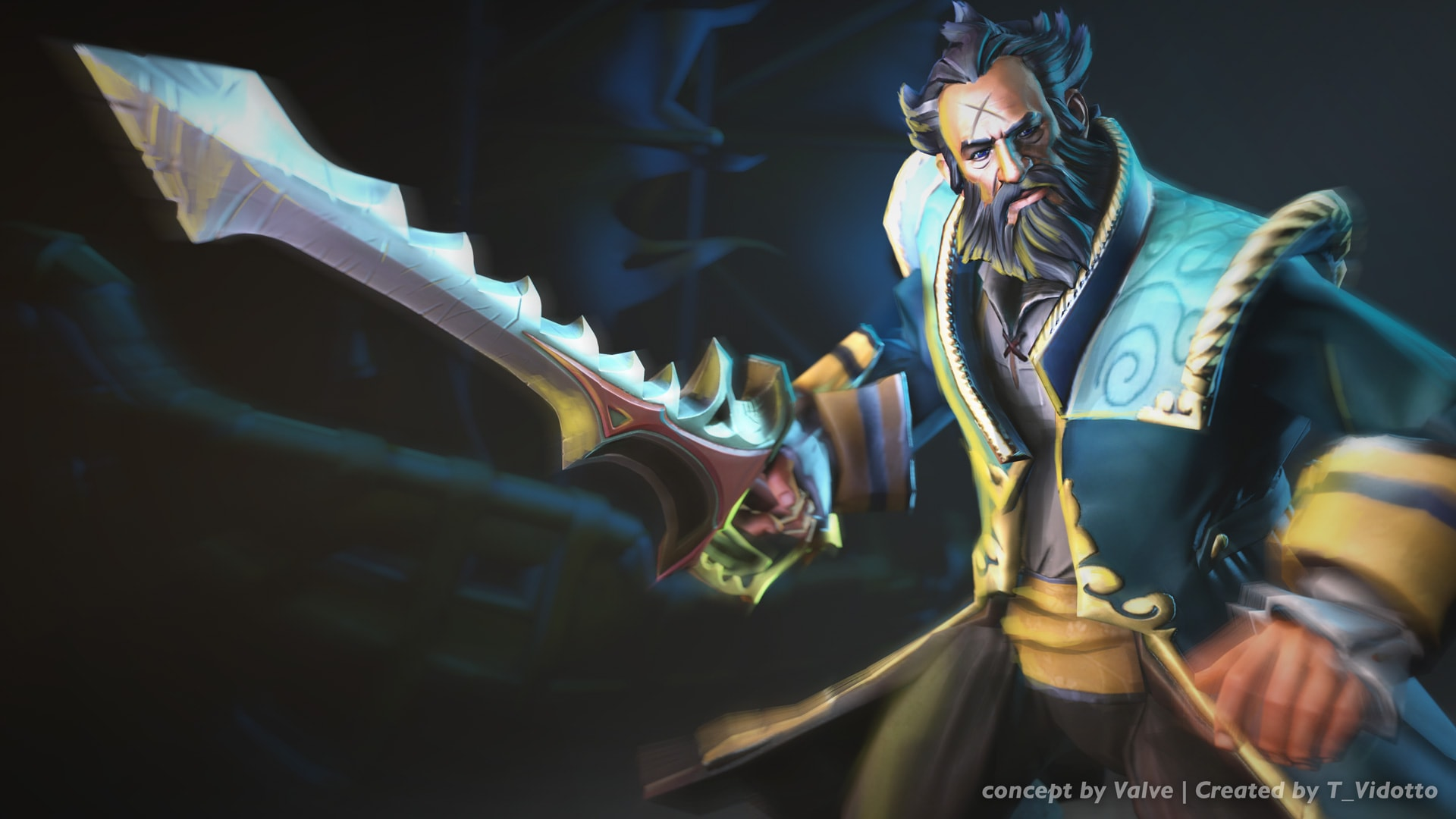 Dota2 : Kunkka widescreen wallpapers