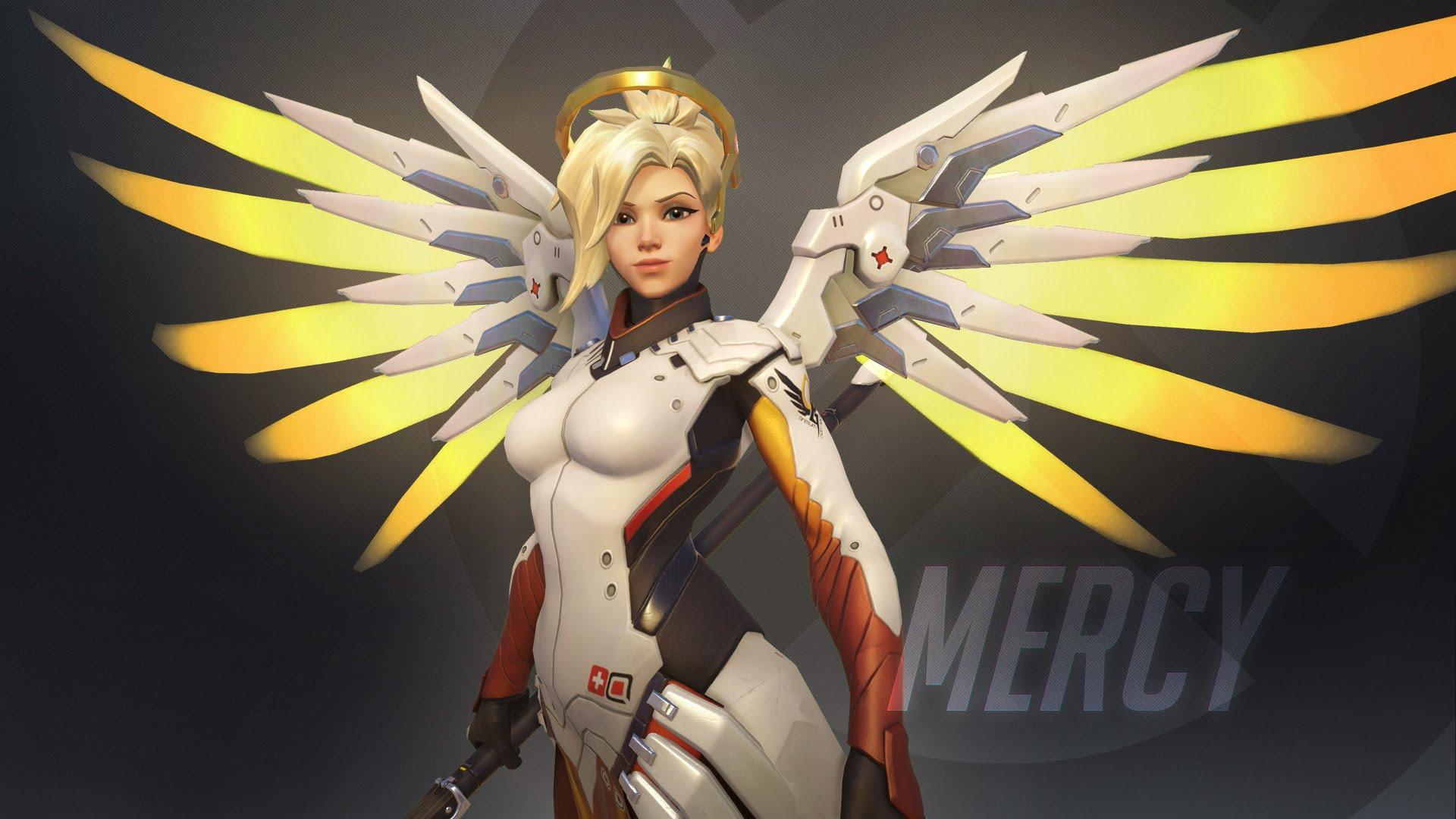Overwatch : Mercy widescreen wallpapers