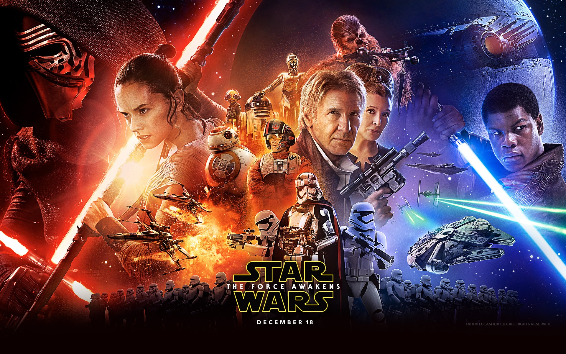 Star Wars Episode VII: The Force Awakens widescreen wallpapers