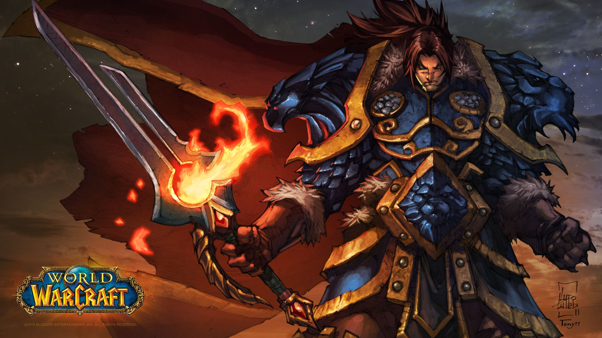 WOW: Varian Wrynn widescreen wallpapers