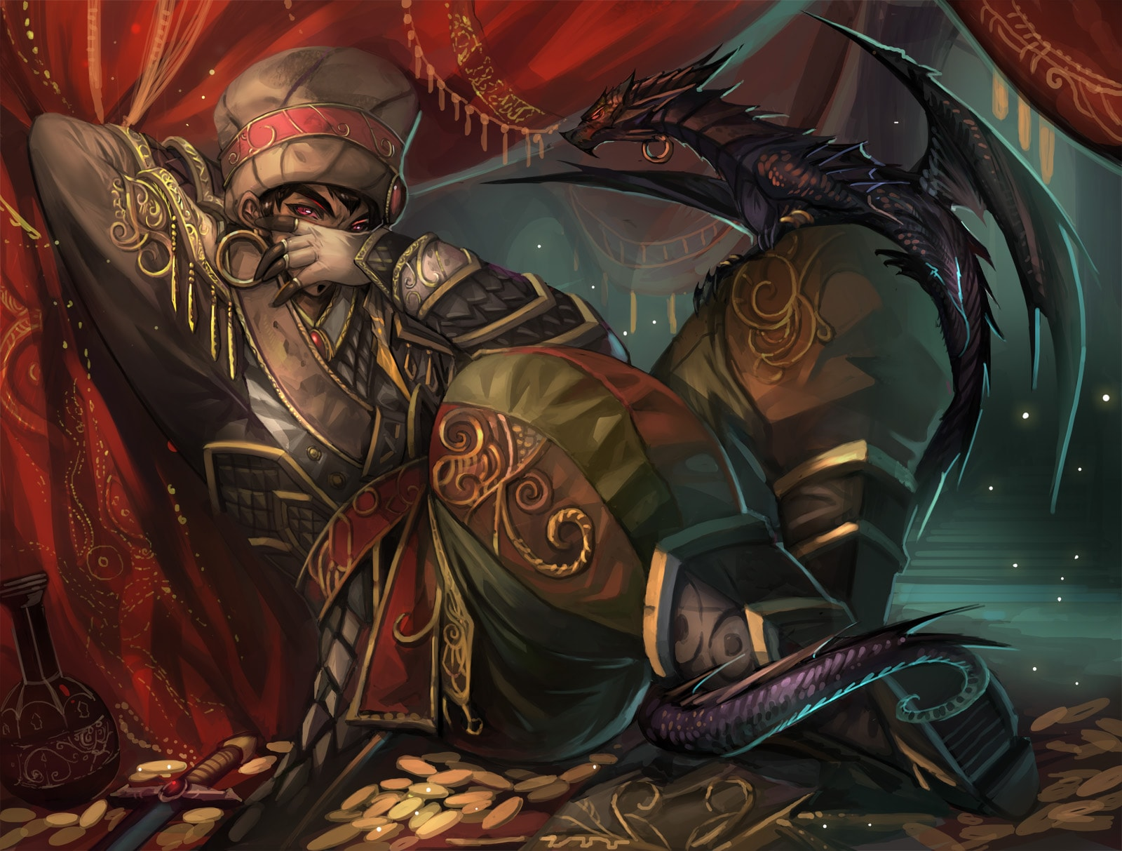 WOW: Wrathion widescreen wallpapers