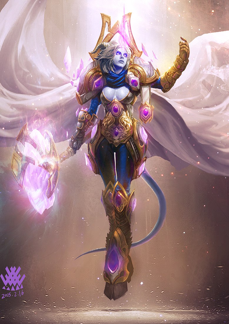 Draenei paladin art cartoon photos