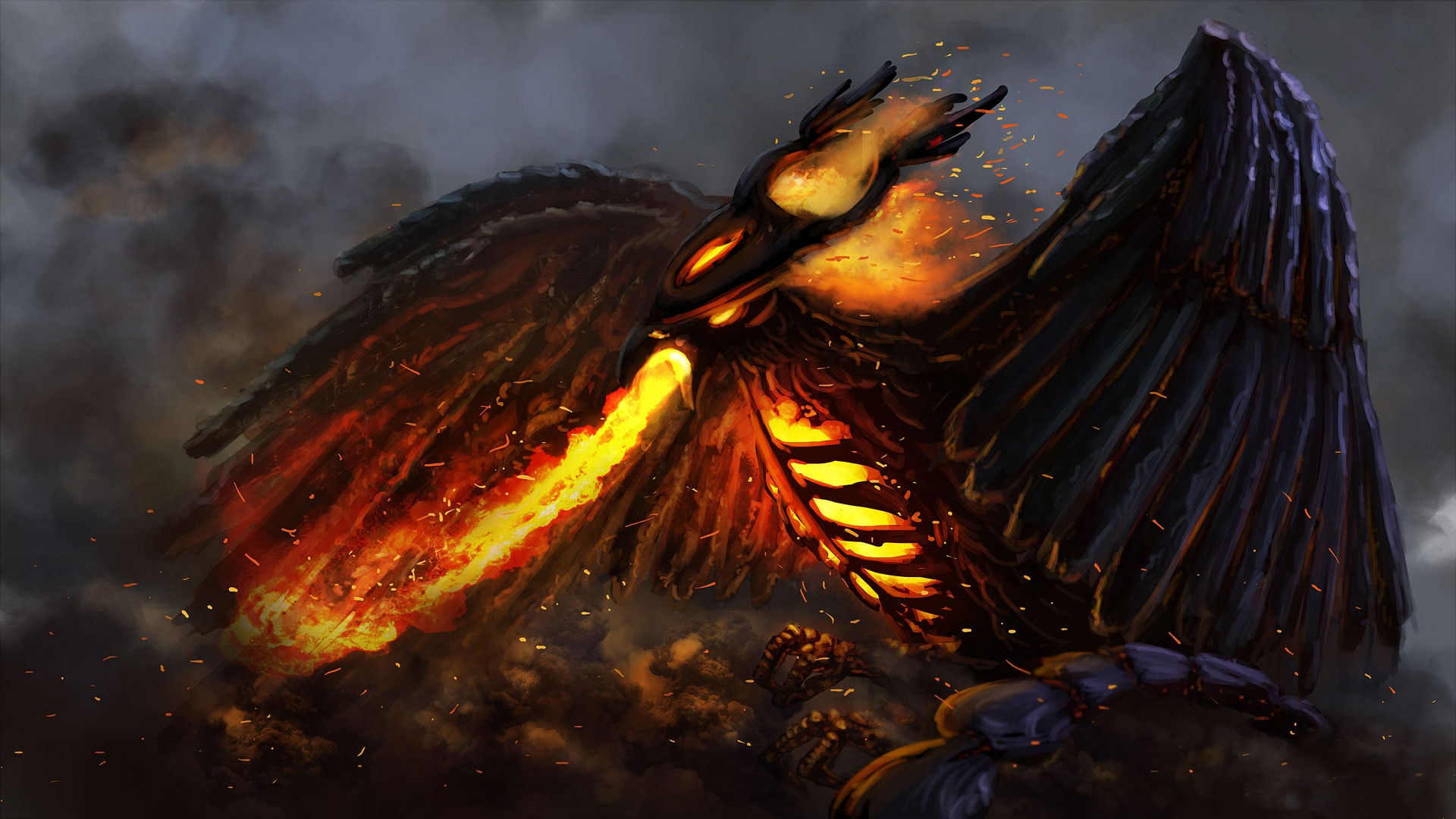 Dota2 : Phoenix Background