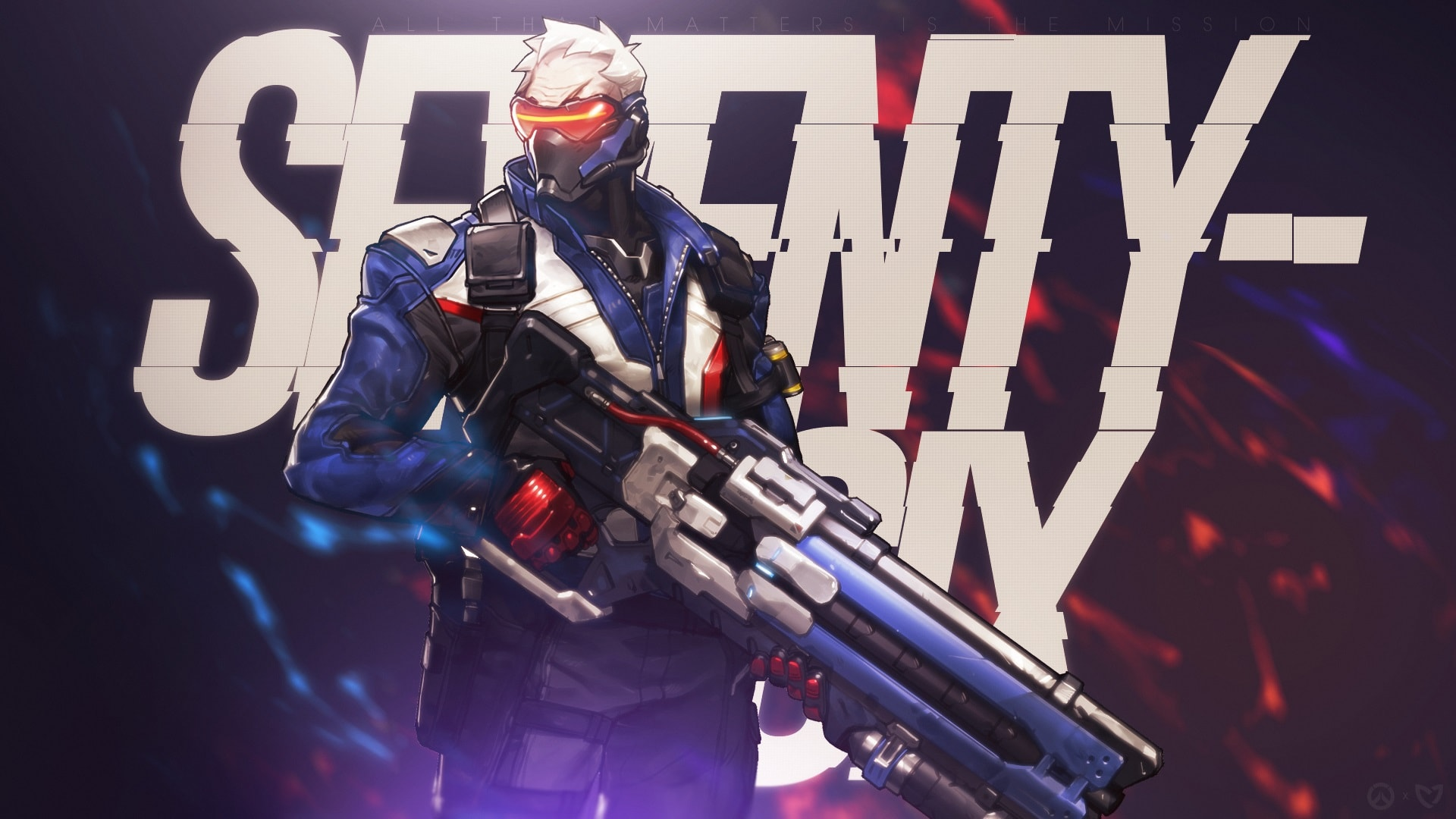 Overwatch : Soldier: 76 HQ wallpapers