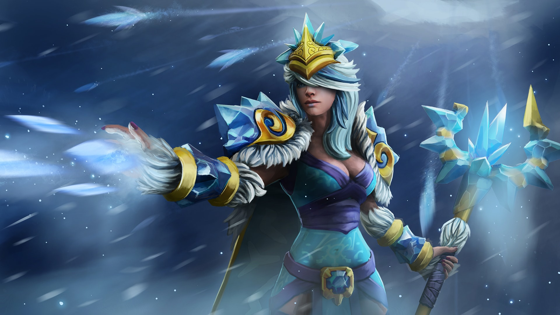 Dota2 Crystal Maiden Hd Wallpapers 7wallpapers Net
