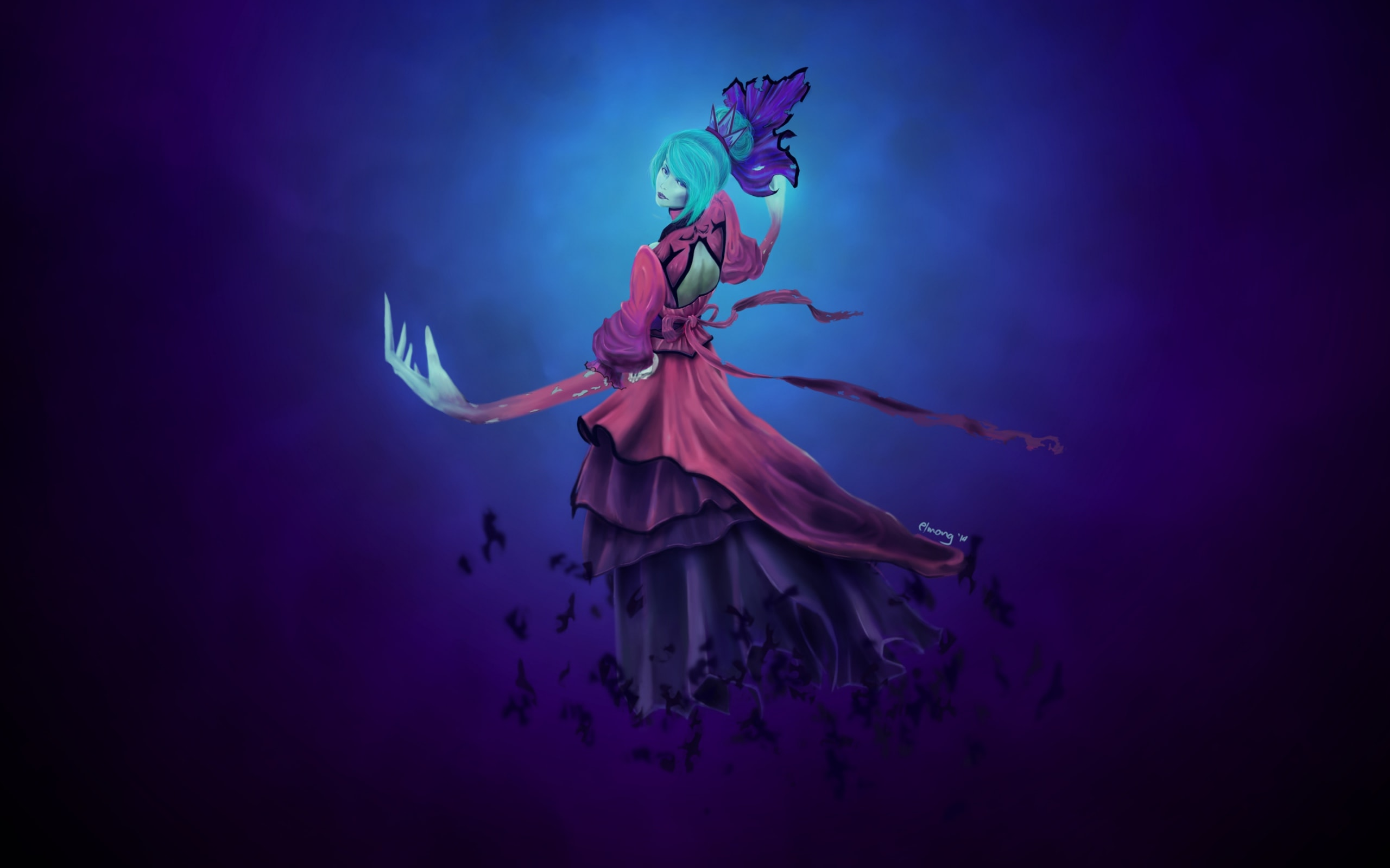Dota2 : Death Prophet Background