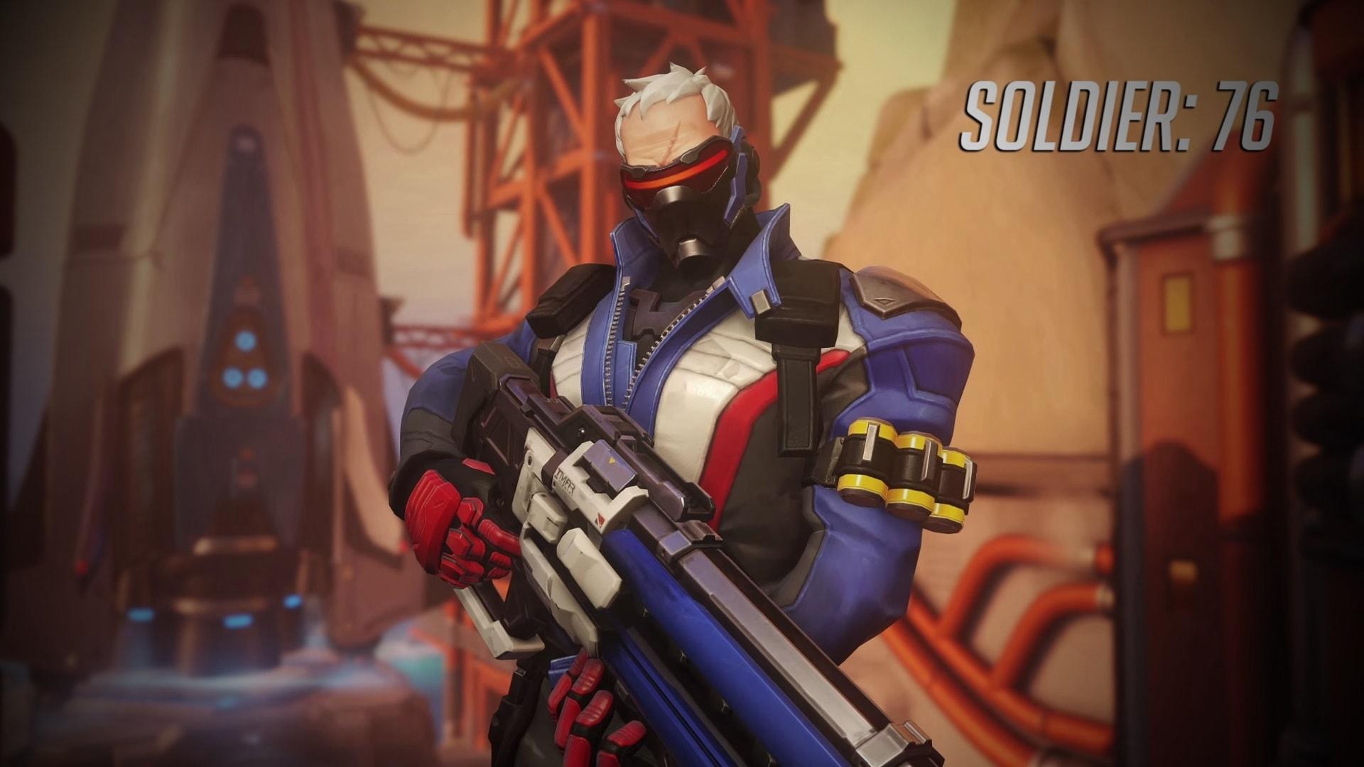 Overwatch : Soldier: 76 Desktop wallpapers