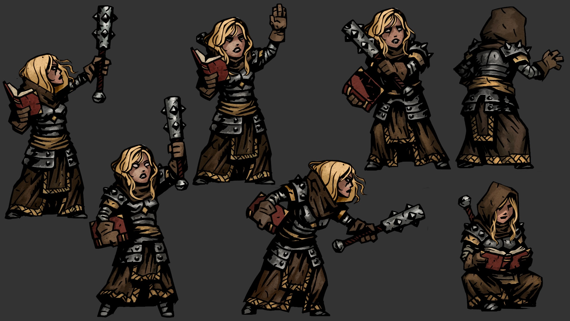 Darkest Dungeon: Vestal Desktop wallpapers