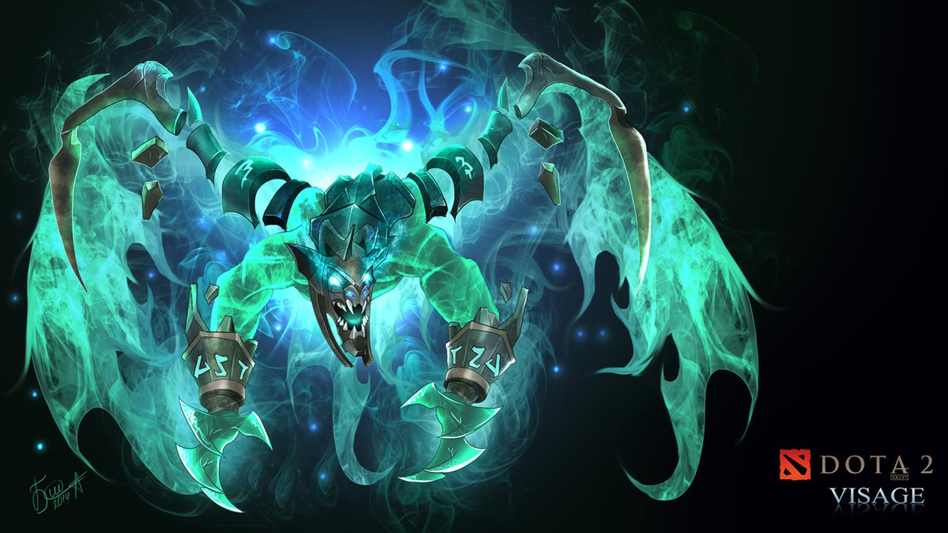 Dota 2 : Visage desktop wallpaper