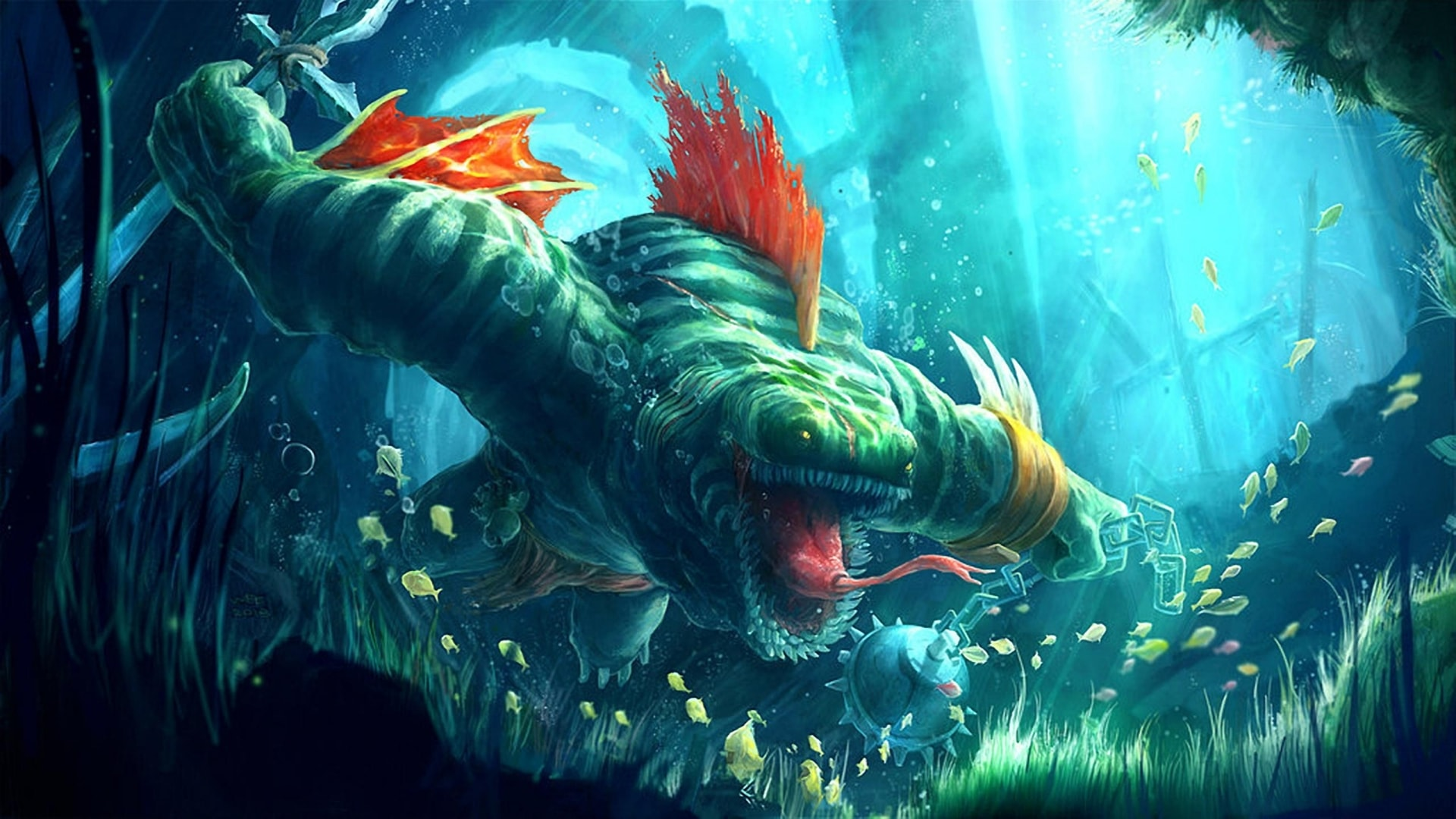 Dota2 Tidehunter Backgrounds Pictures