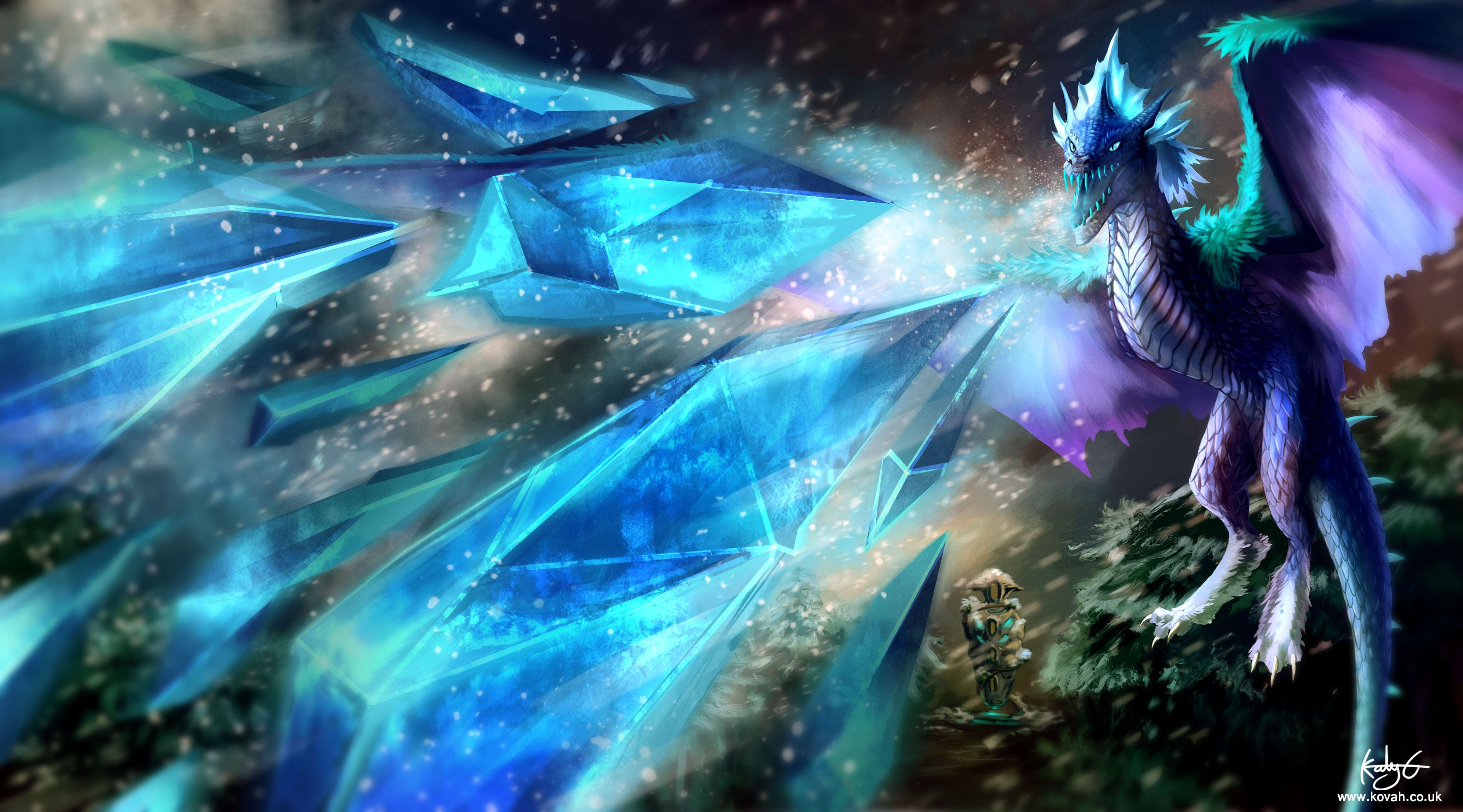 Dota 2 : Winter Wyvern Background