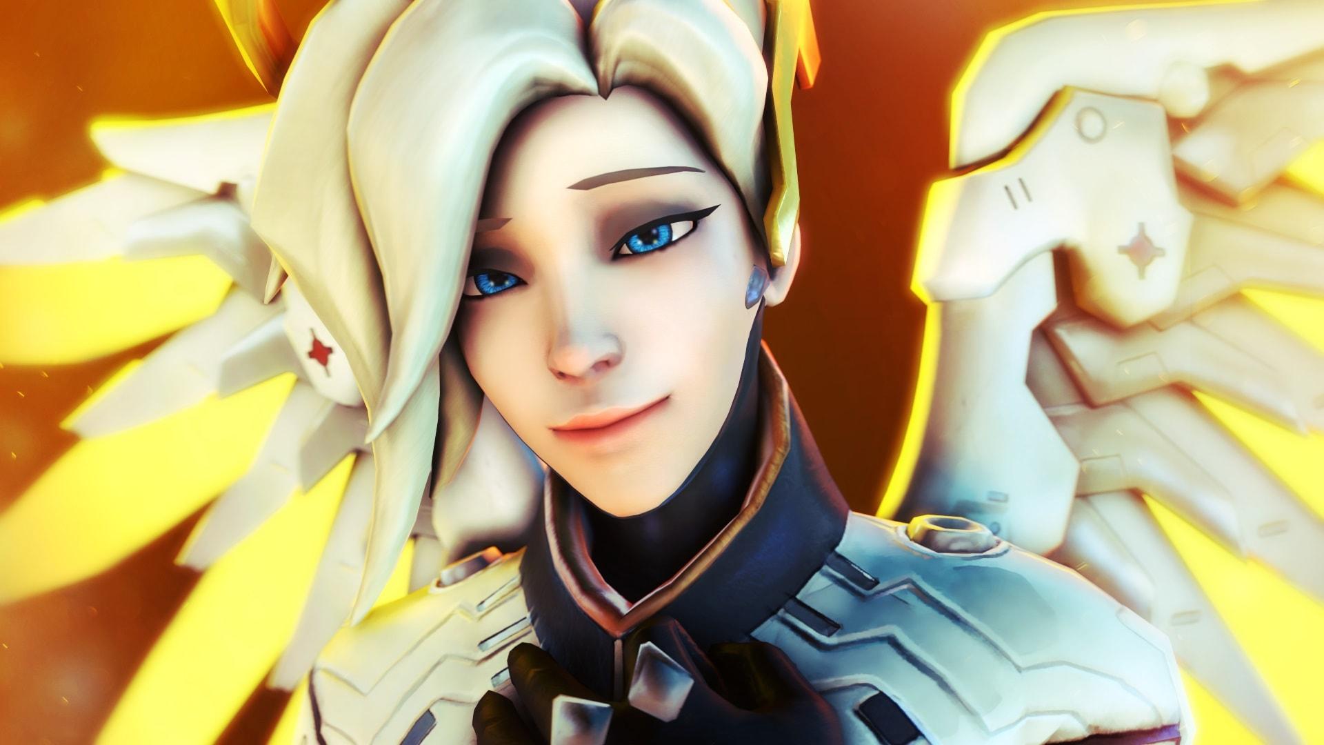 Overwatch : Mercy Background