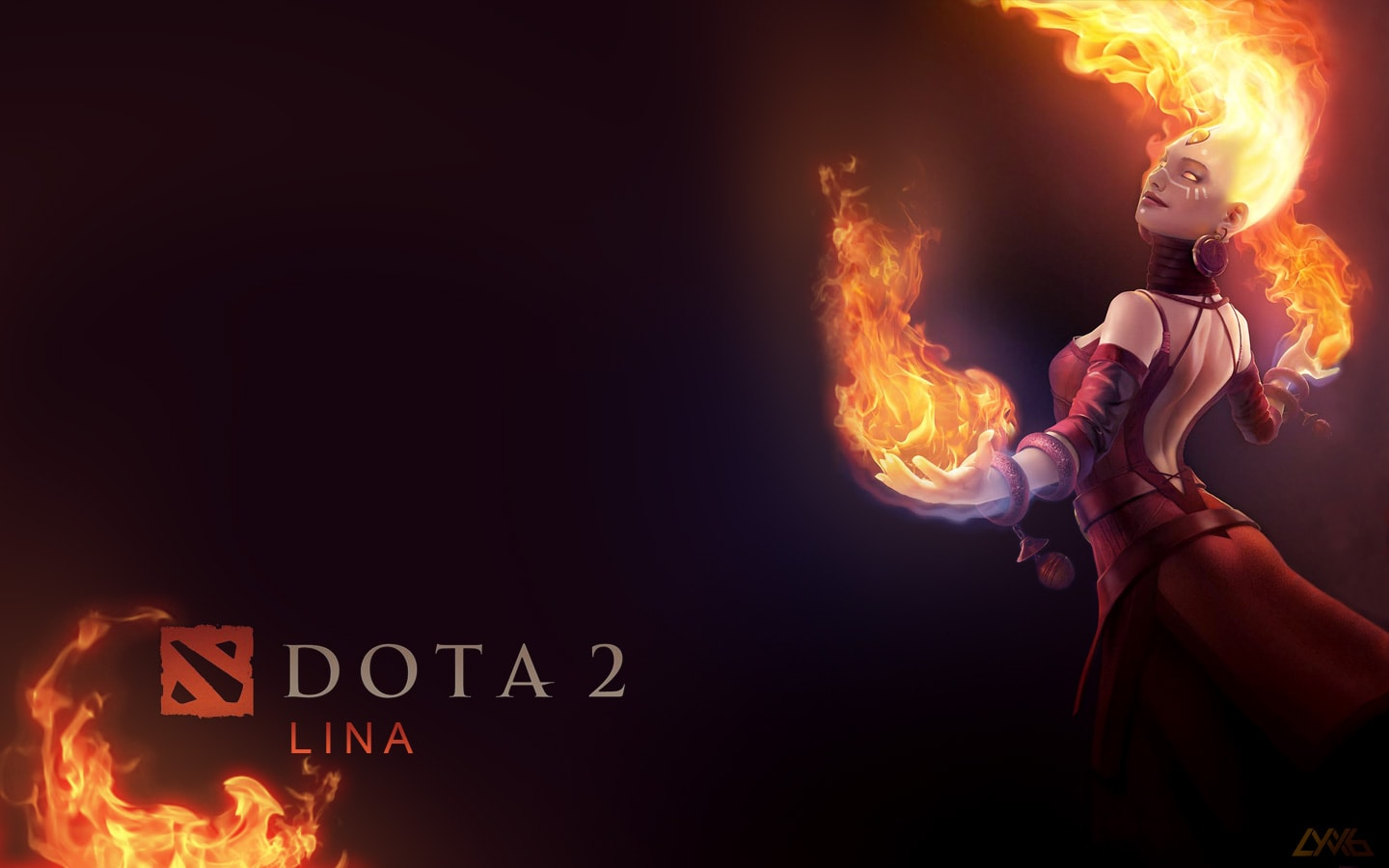 Dota2 : Lina widescreen wallpapers