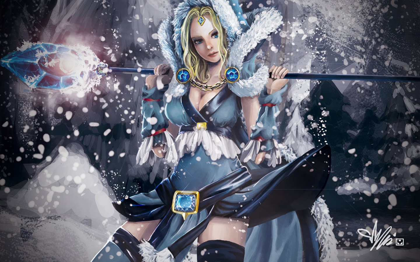 Dota2 : Crystal Maiden Backgrounds