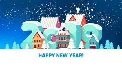 Happy New Year 2019 Widescreen for desktop