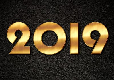 Happy New Year 2019 Widescreen
