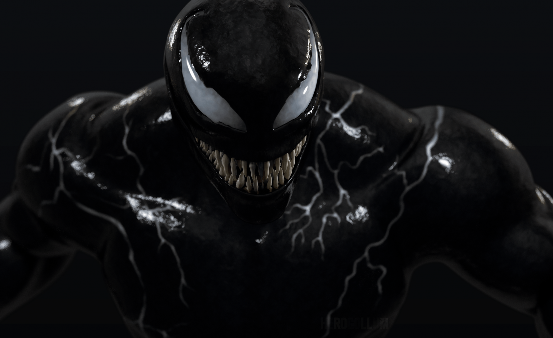 Venom Black Wallpaper For Android 3d Wallpapers